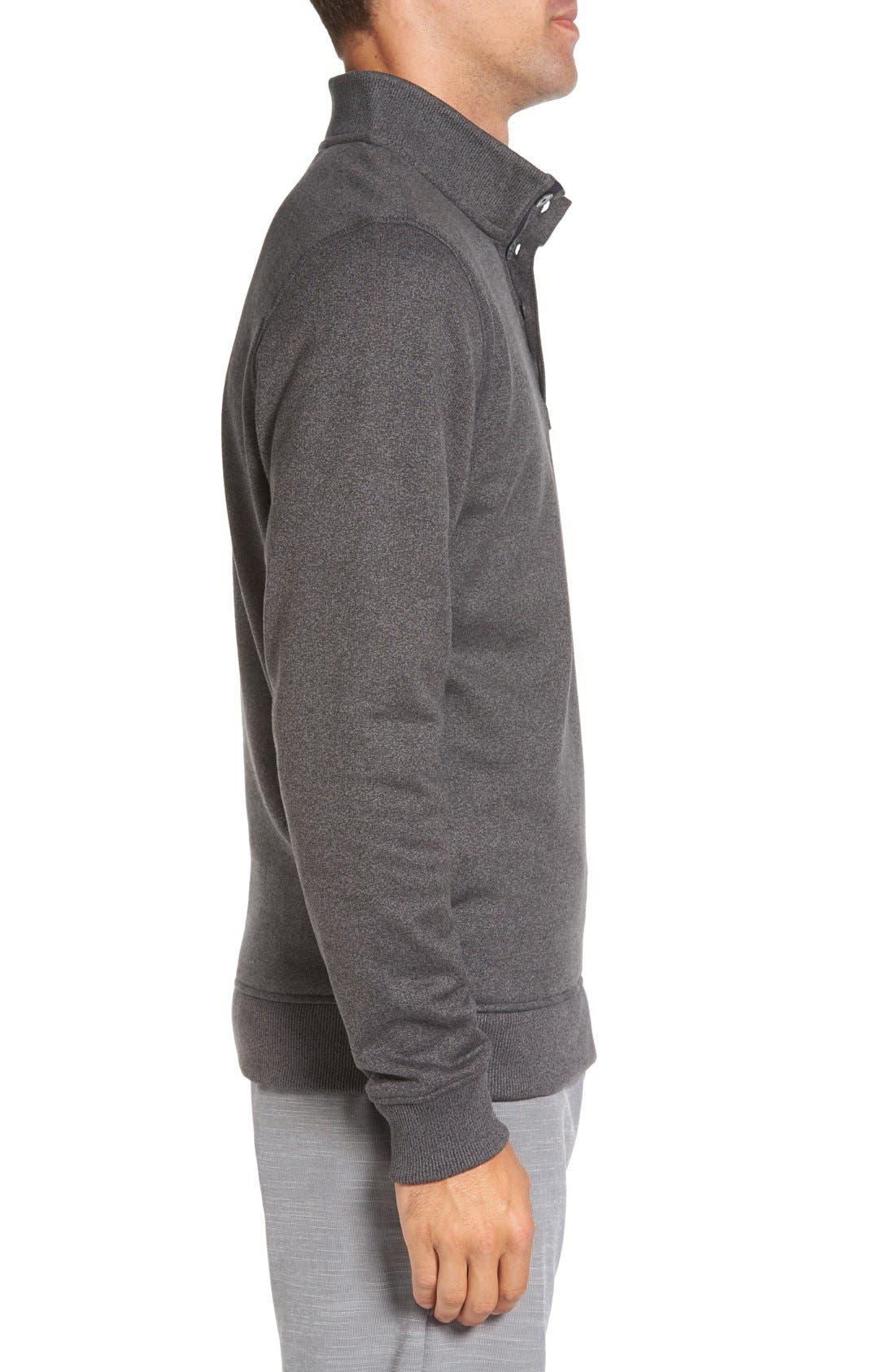 'Wall' Mock Neck Pullover,                             Alternate thumbnail 3, color,                             QUIET SHADE/ BLACK