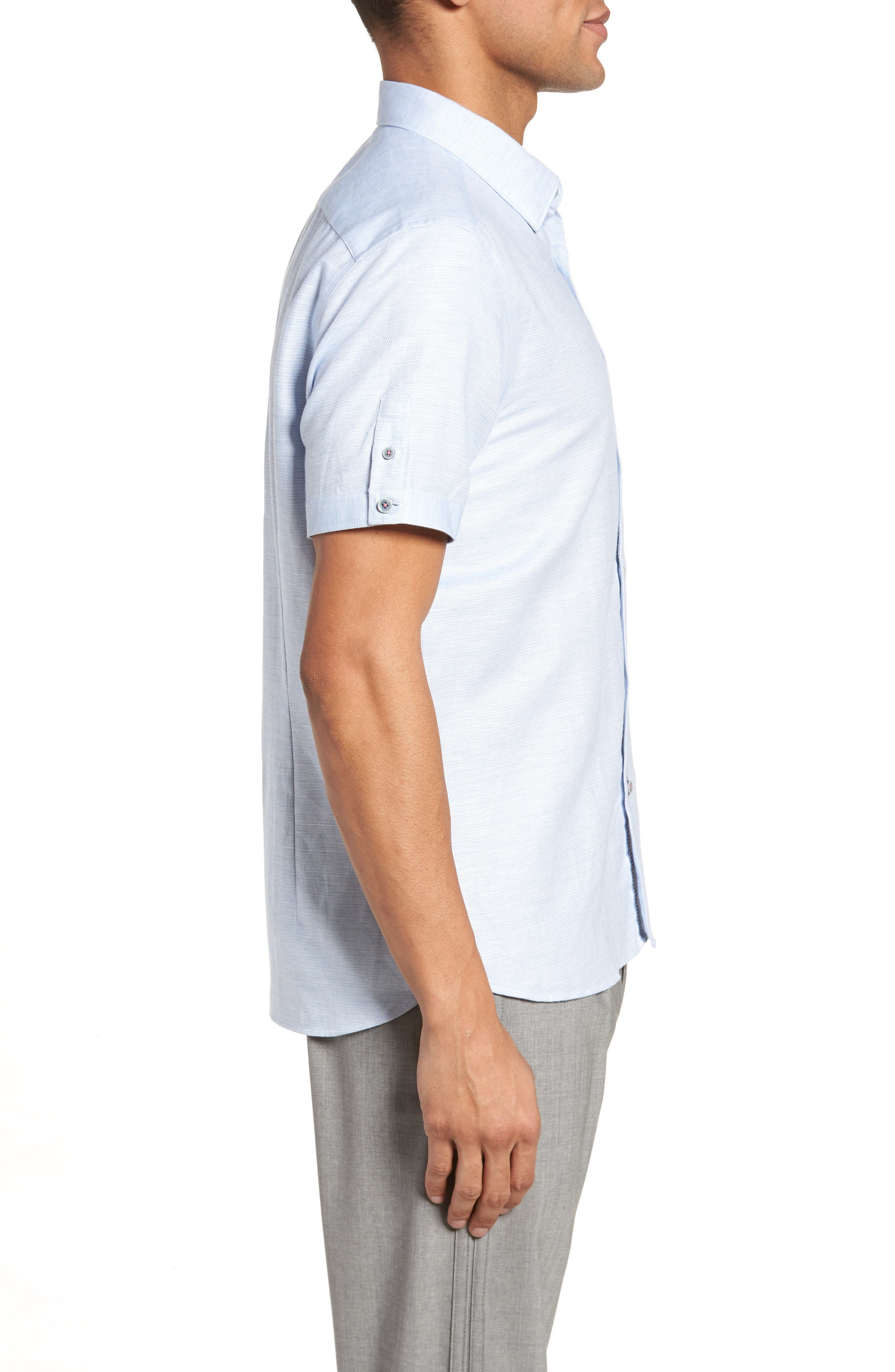 Slim Fit Sport Shirt,                             Alternate thumbnail 14, color,