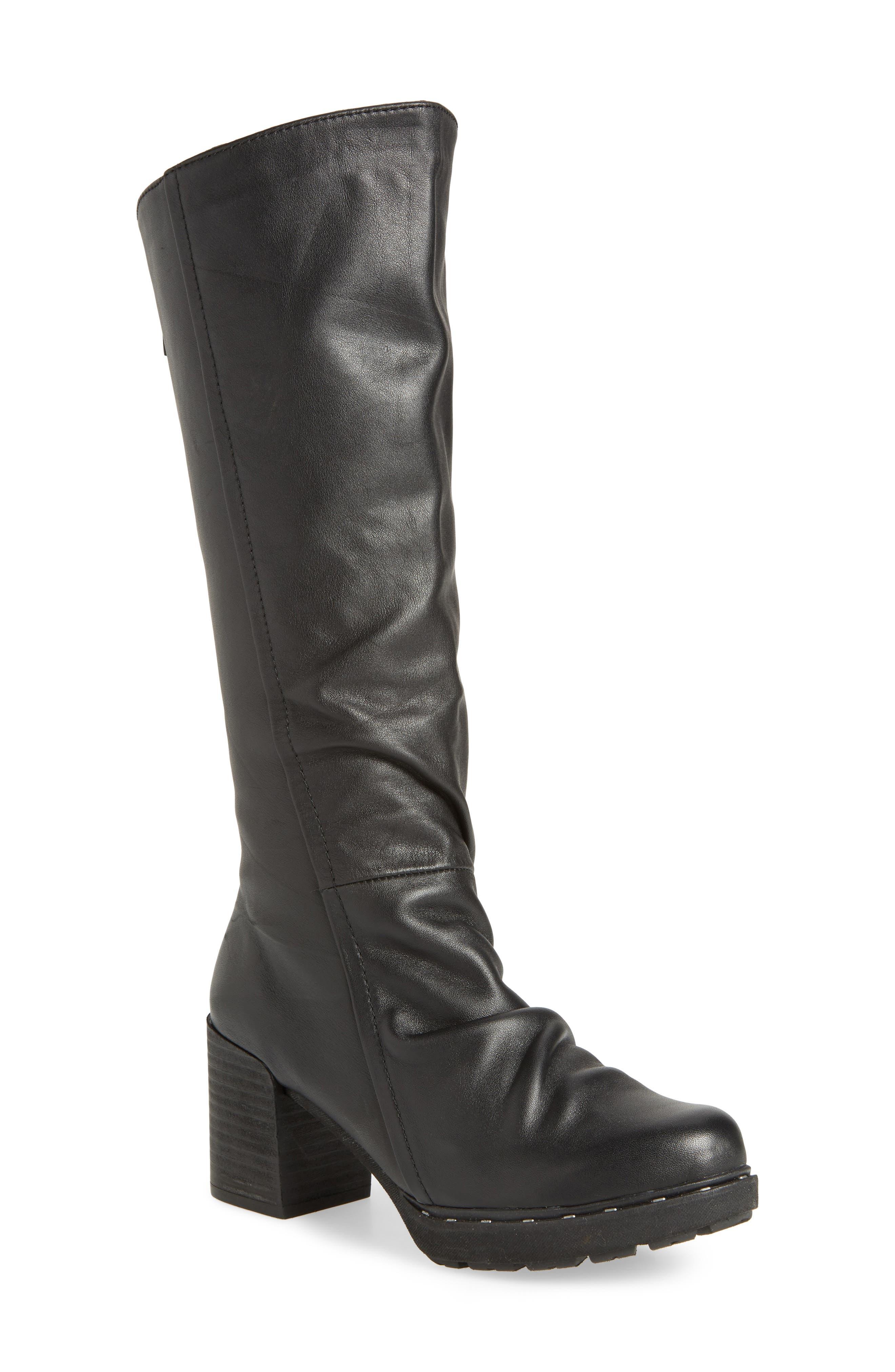 Gambol Boot, Main, color, BLACK LEATHER