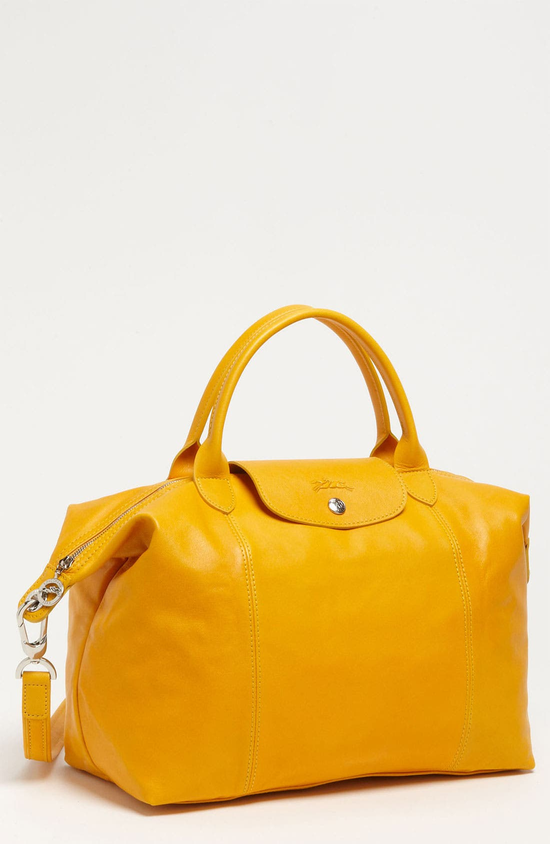 Medium 'Le Pliage Cuir' Leather Top Handle Tote,                             Main thumbnail 32, color,