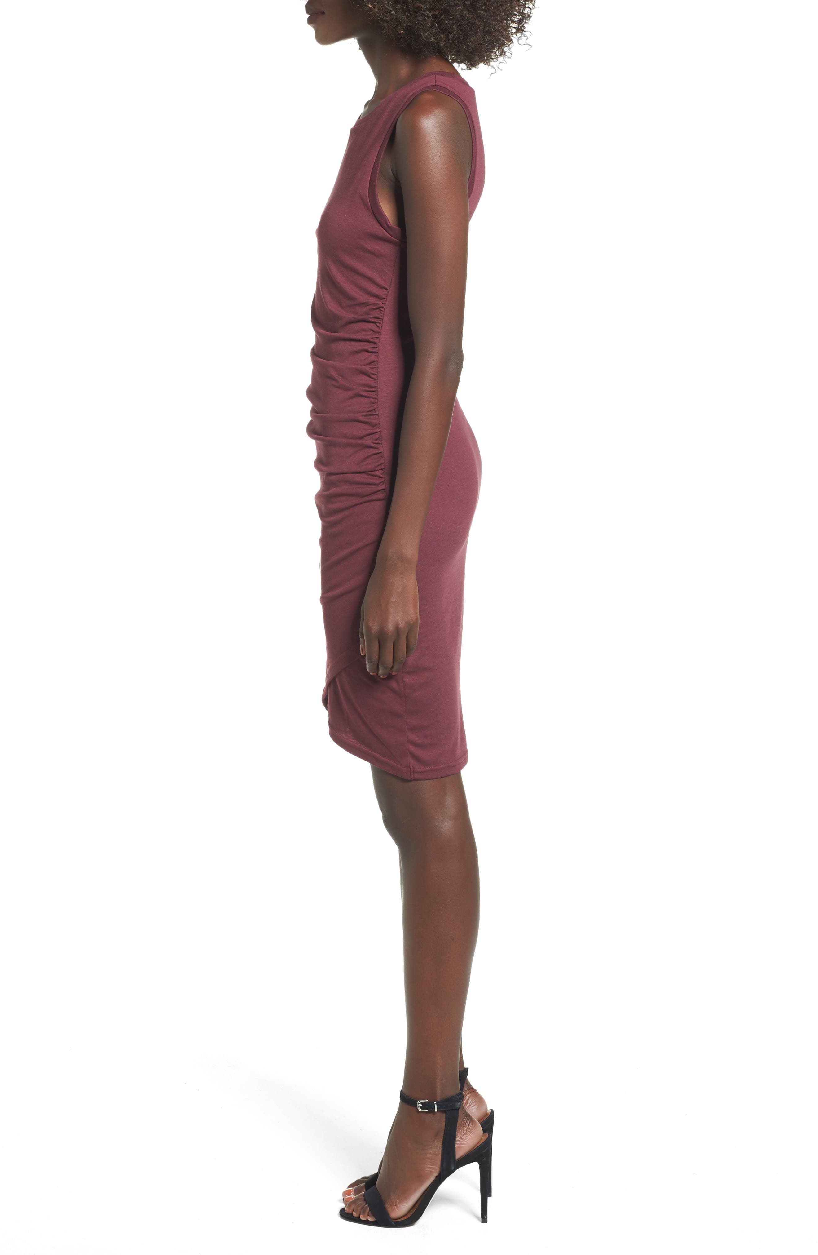 Ruched Body-Con Tank Dress,                             Alternate thumbnail 83, color,