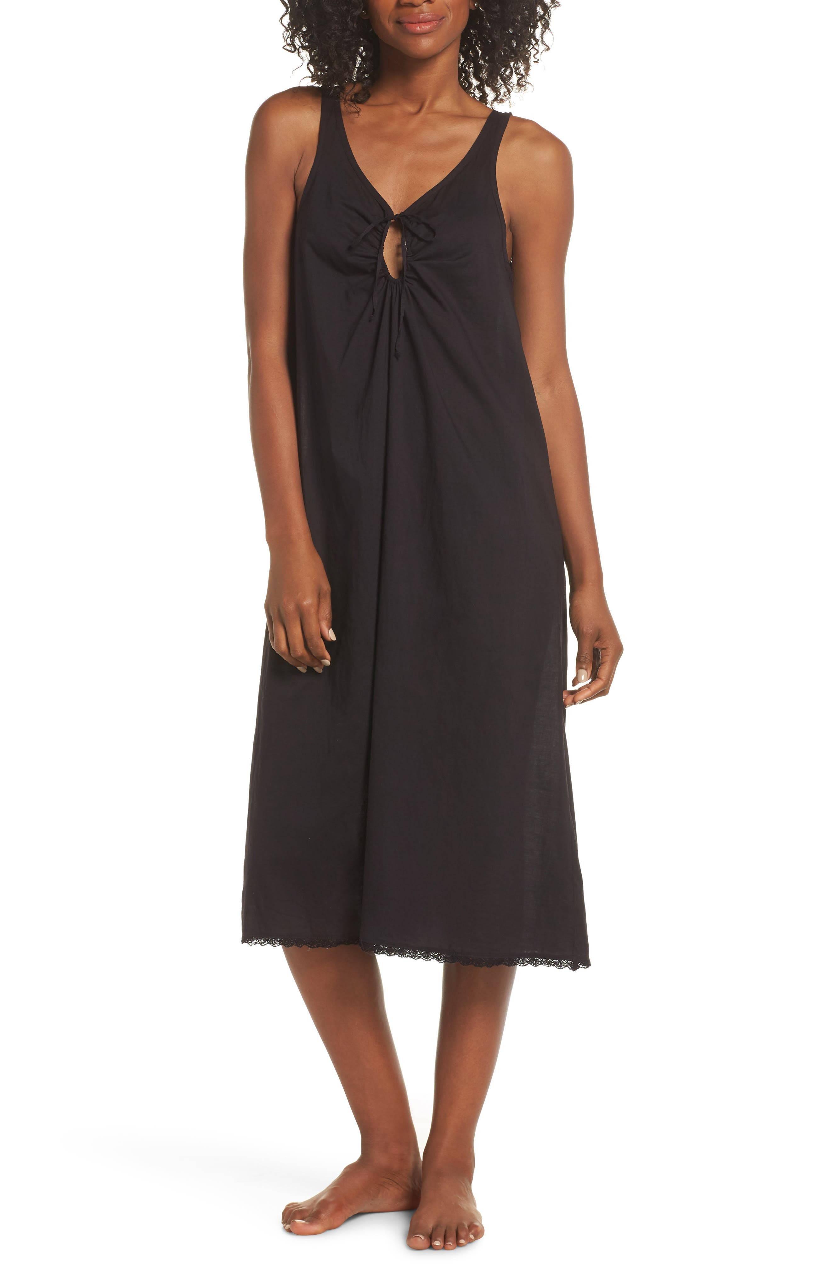LACAUSA Wendy Nightgown in Tar