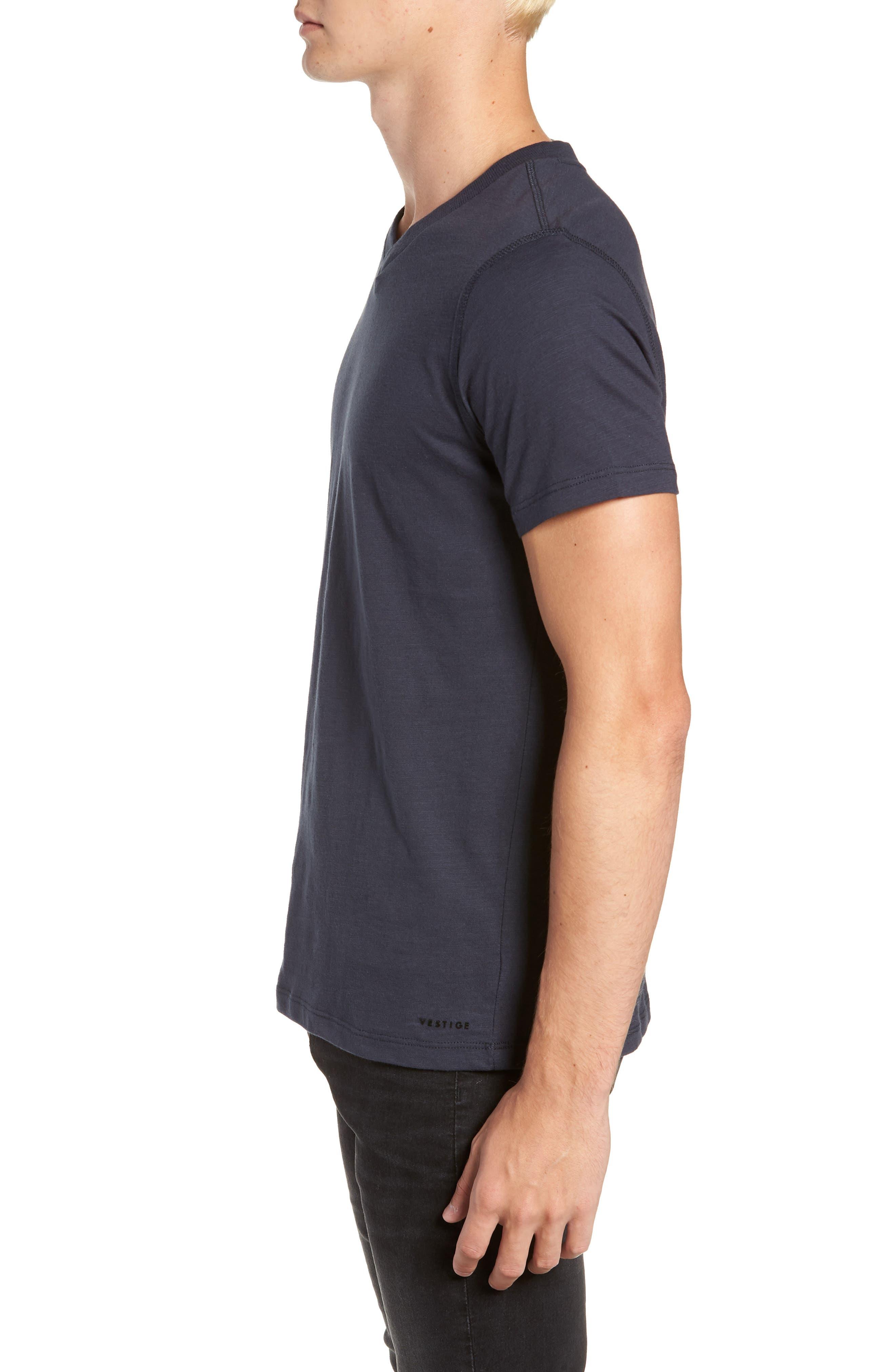 Soccer V-Neck T-Shirt,                             Alternate thumbnail 3, color,                             CARBON