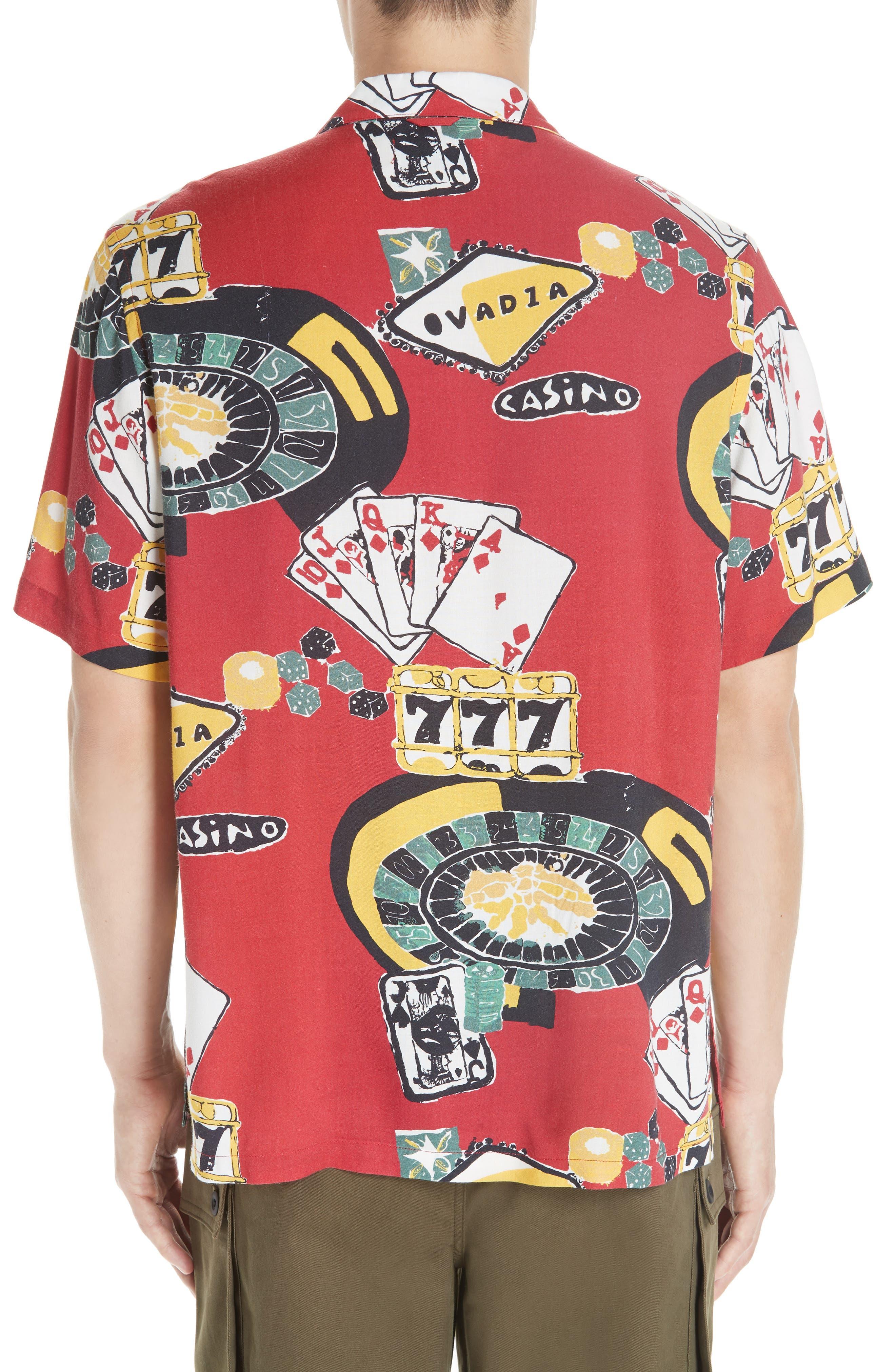 OVADIA & SONS,                             Casino Print Shirt,                             Alternate thumbnail 3, color,                             600
