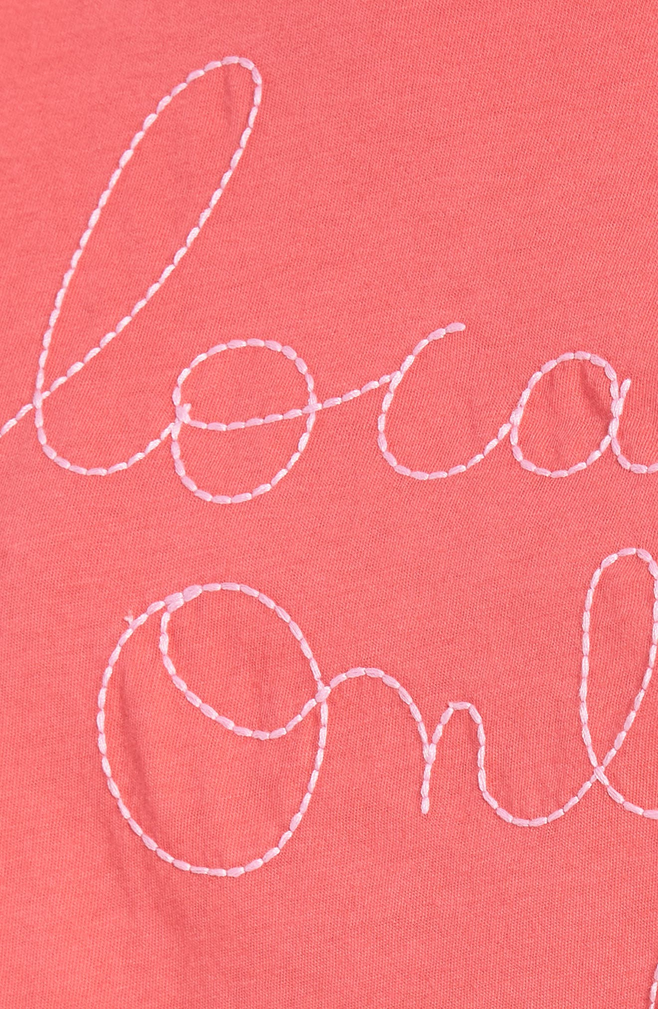 Locals Only Tie Front Tee,                             Alternate thumbnail 6, color,