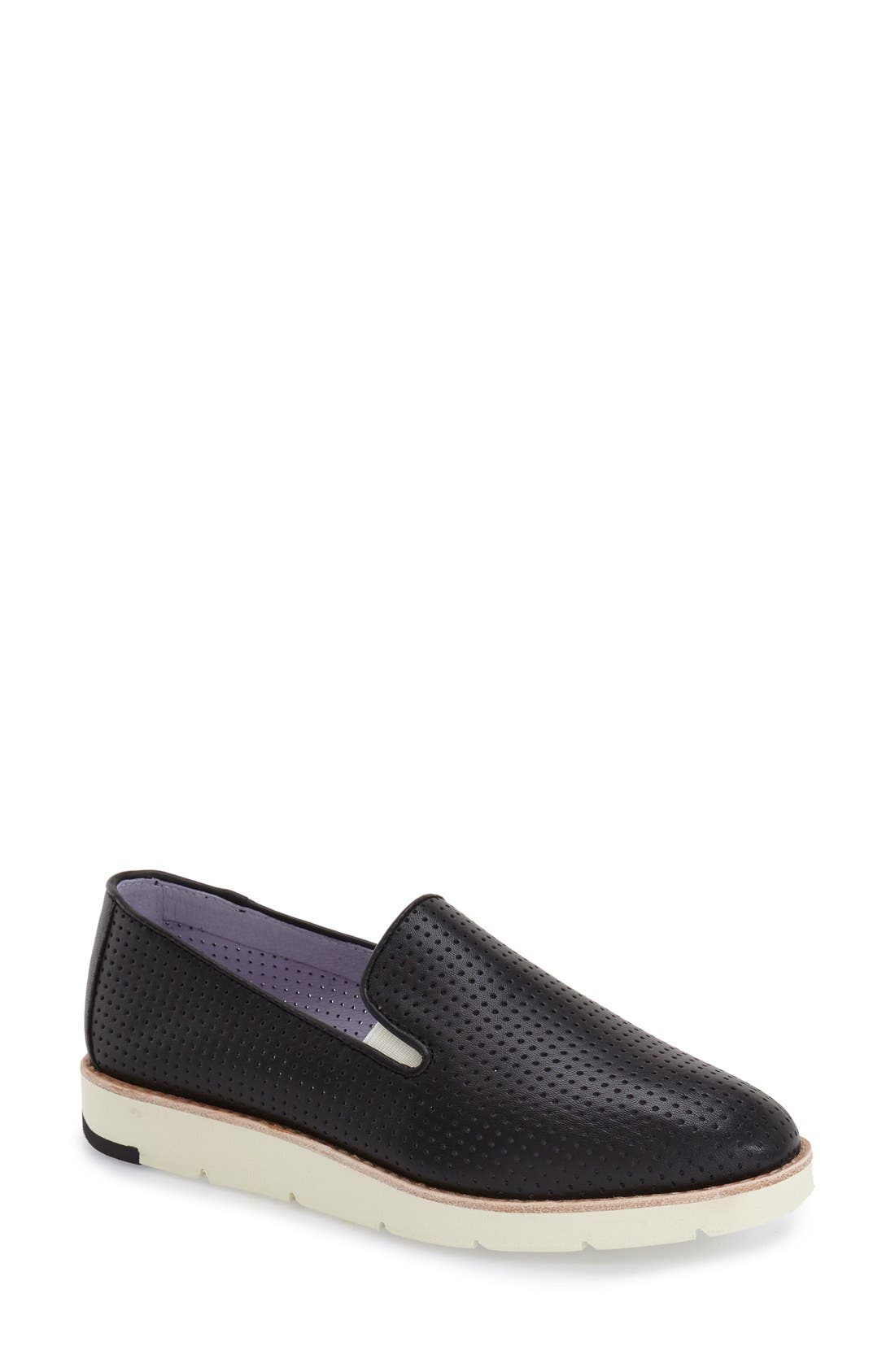 'Paulette' Slip-On Sneaker,                         Main,                         color, BLACK