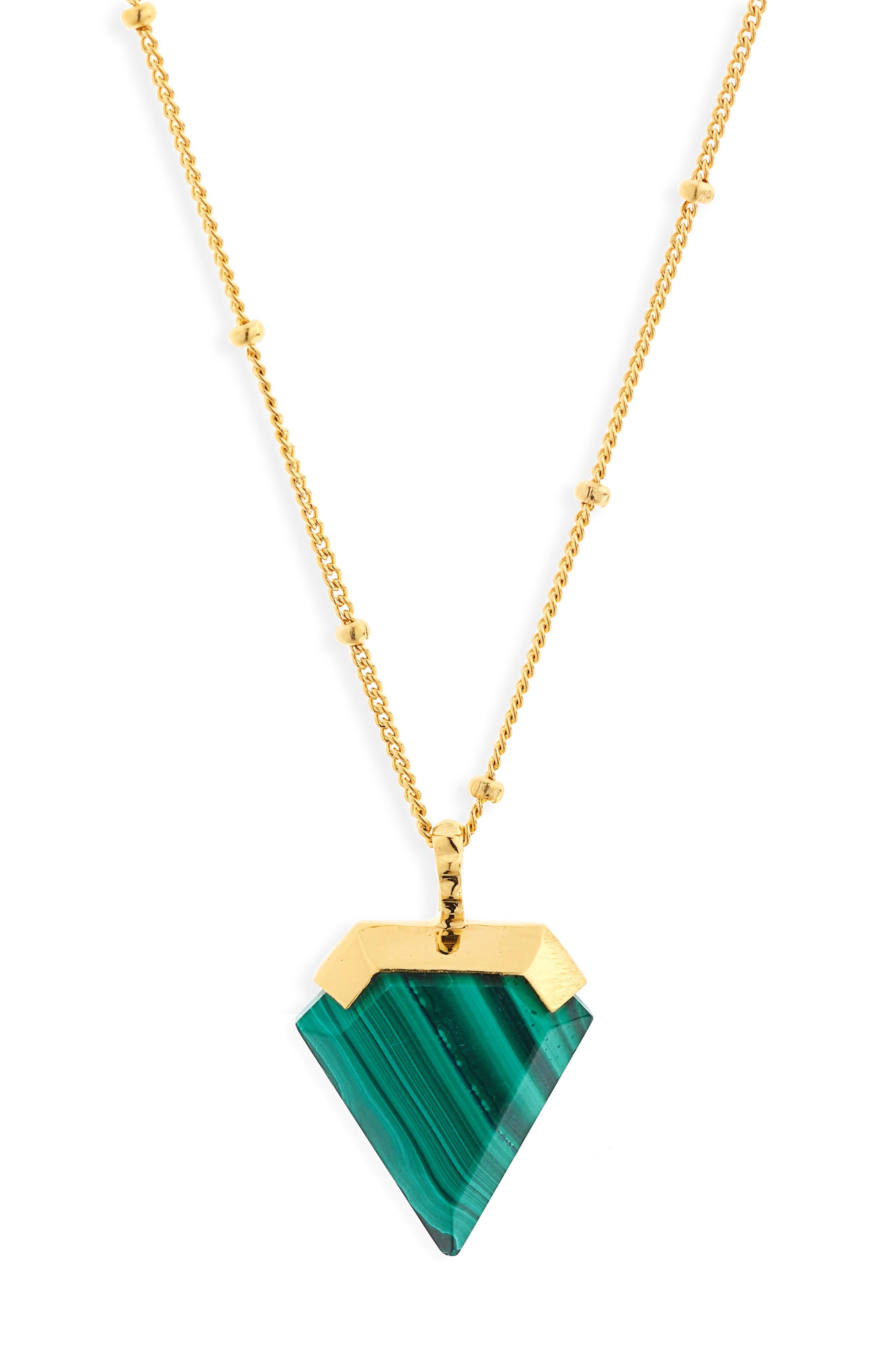 Shield Pendant Necklace,                         Main,                         color,