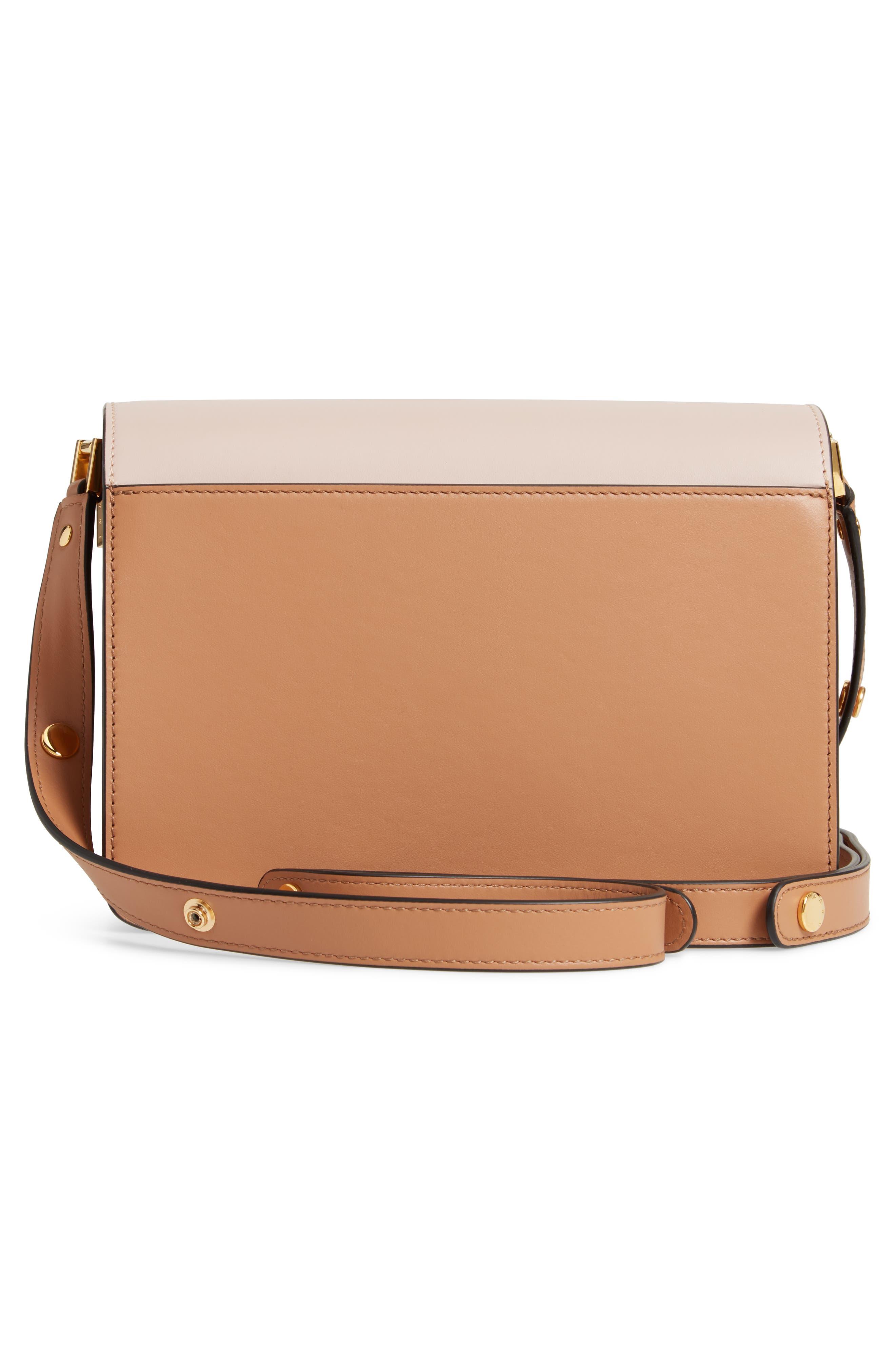 MARNI,                             Trunk Colorblock Leather Shoulder Bag,                             Alternate thumbnail 3, color,                             QUARTZ/ SUNO/ POMPEII