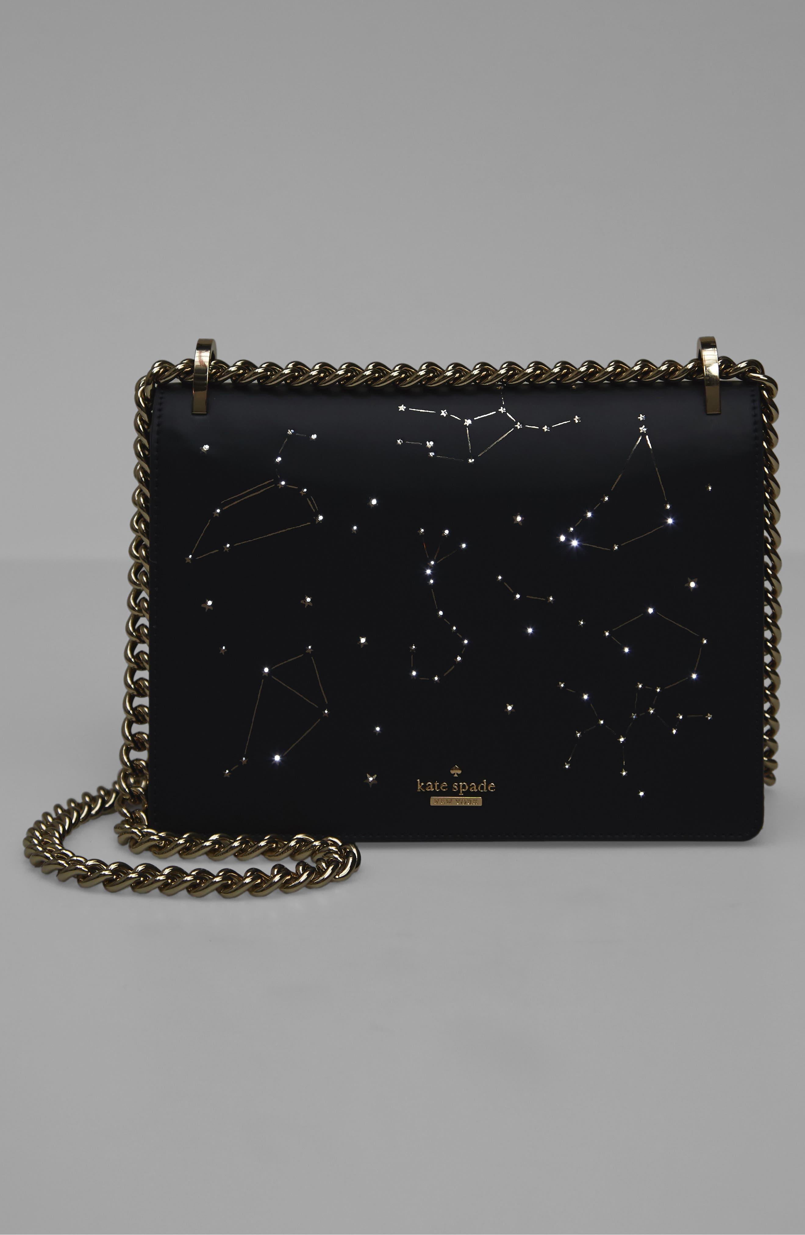 starbright marci LED light-up faux leather shoulder bag,                             Alternate thumbnail 7, color,                             400