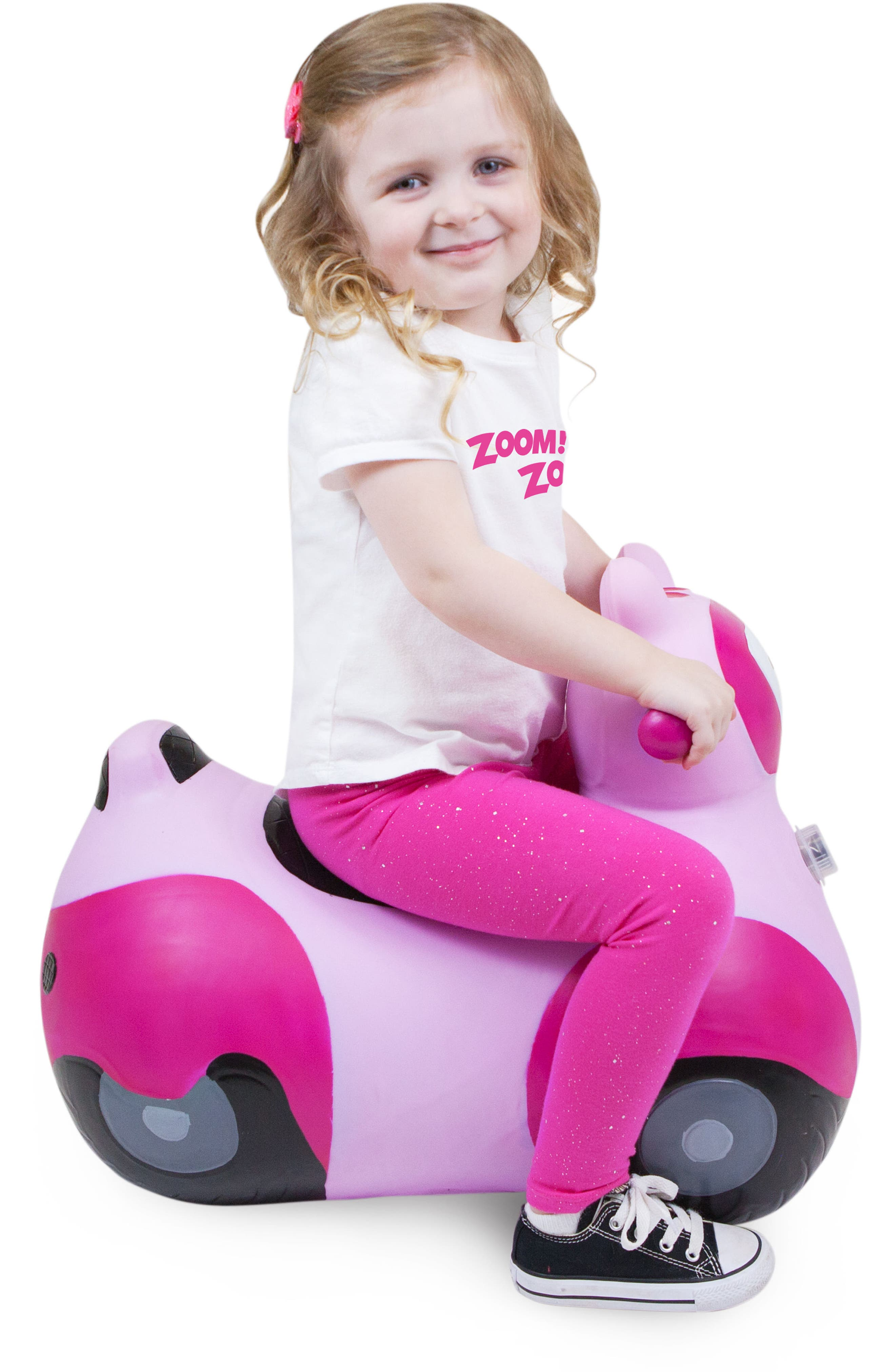 Scooter Bouncy Ride-On Scooter Toy,                             Alternate thumbnail 4, color,                             PINK