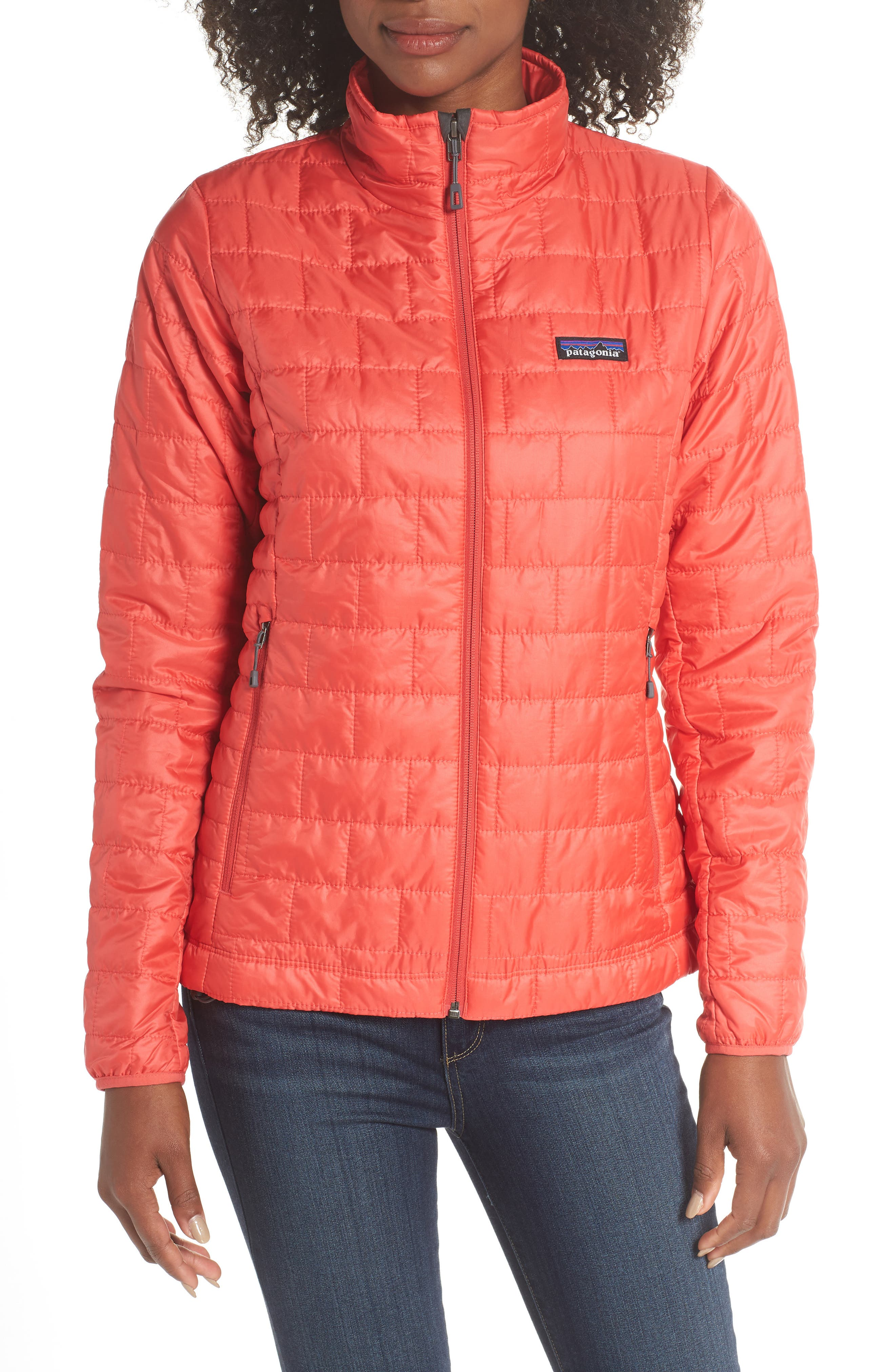 Nano Puff<sup>®</sup> Water Resistant Jacket,                             Alternate thumbnail 4, color,                             TOMATO