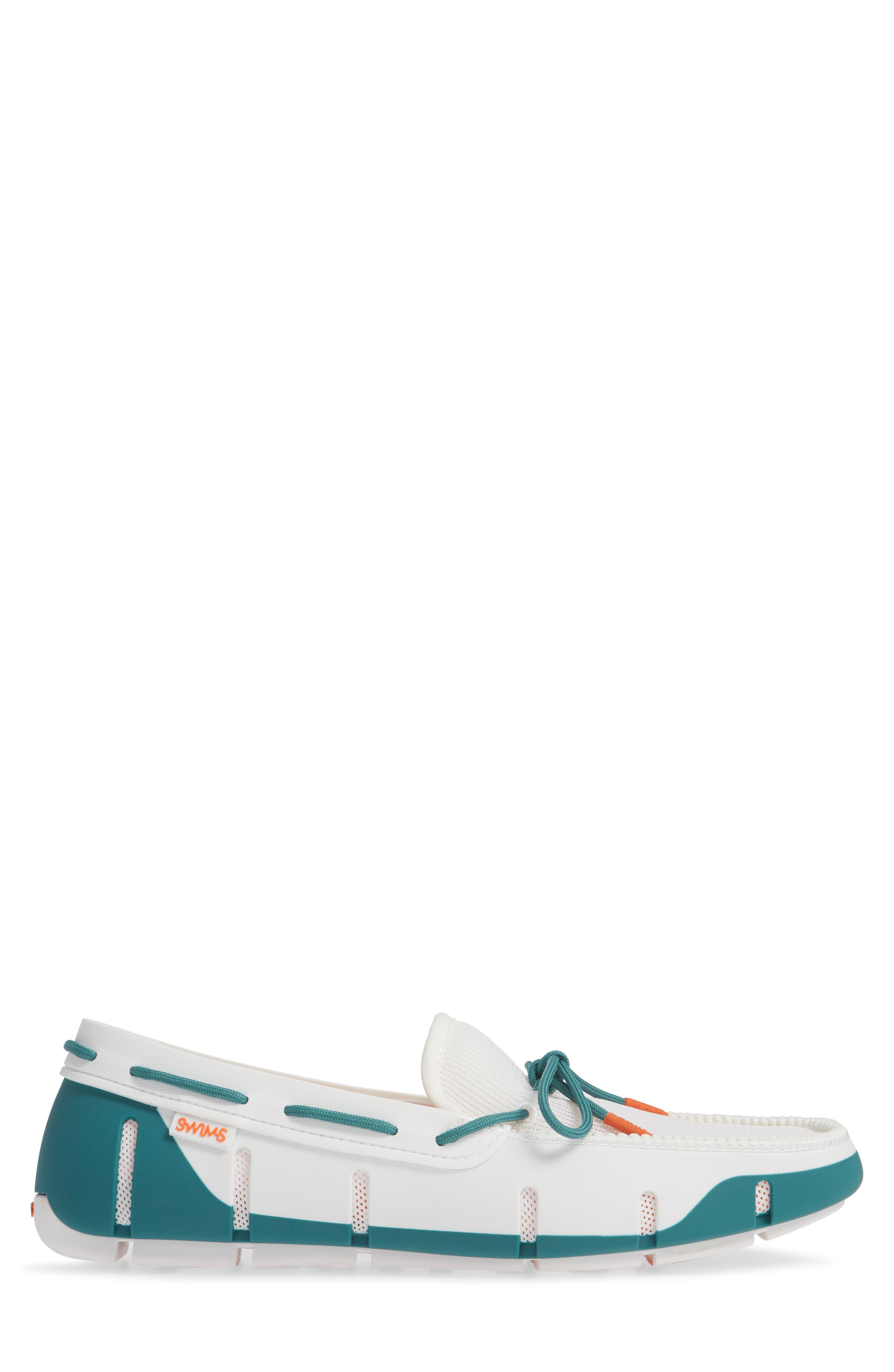 Stride Lace Loafer,                             Alternate thumbnail 3, color,                             WHITE/ TEAL