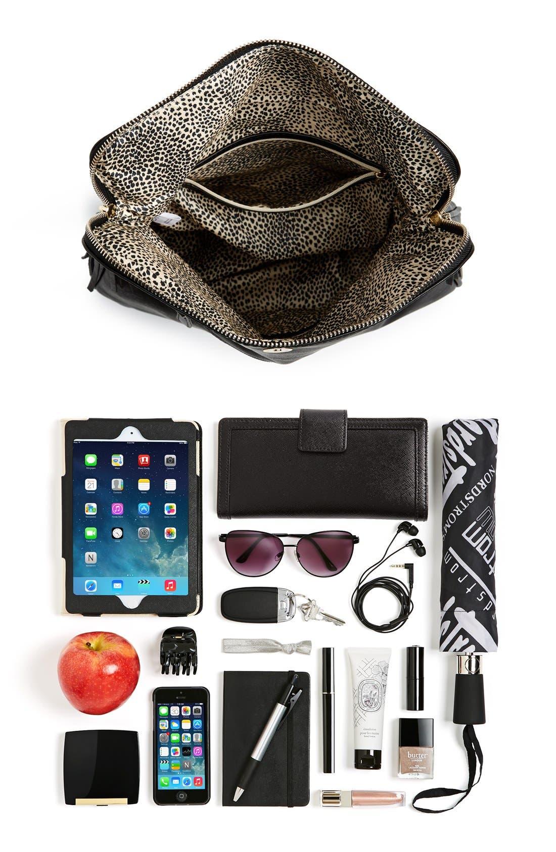 Foldover Crossbody Bag,                             Alternate thumbnail 10, color,                             001