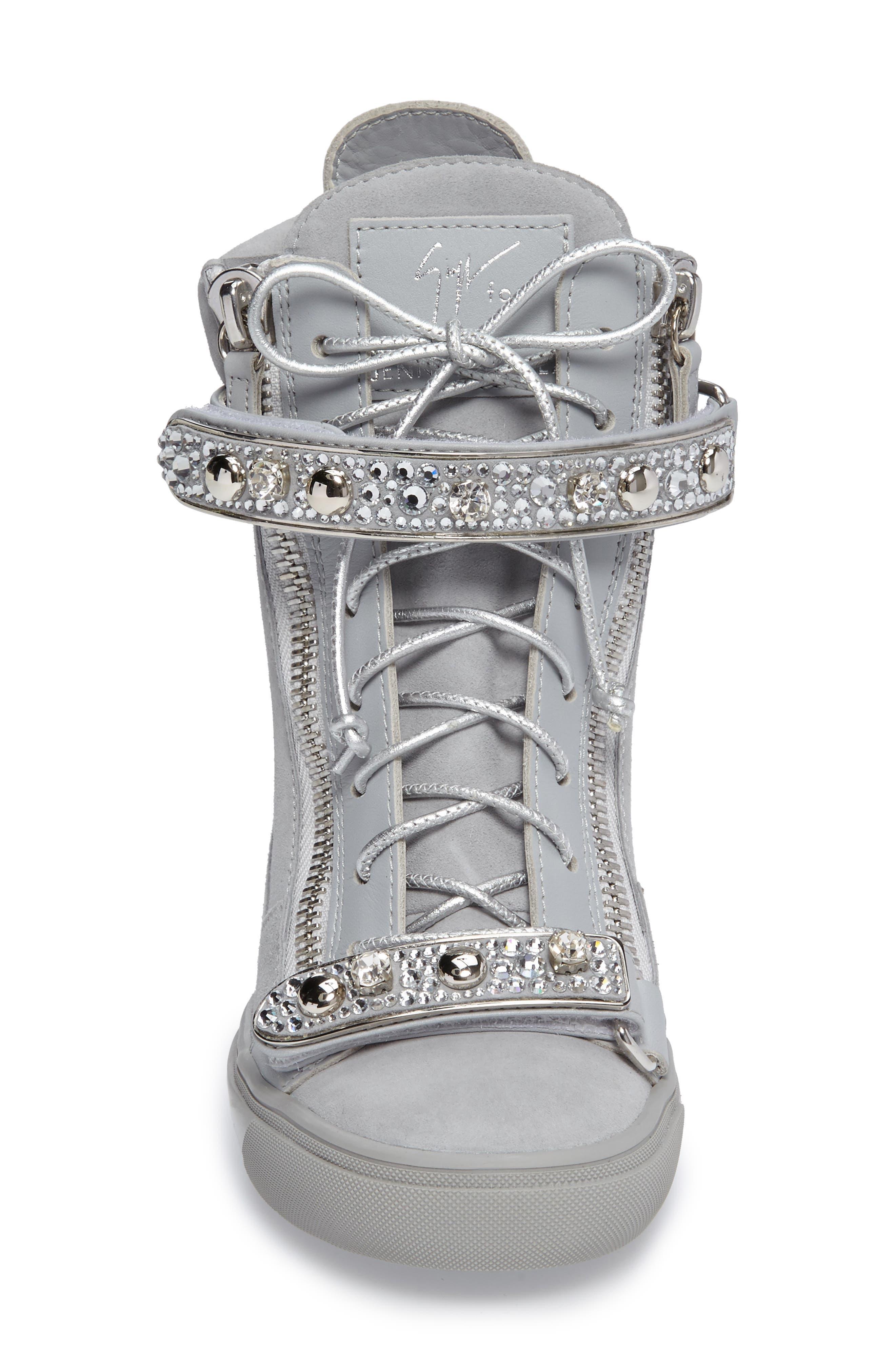 Giuseppe for Jennifer Lopez Tiana Hidden Wedge Sneaker,                             Alternate thumbnail 7, color,