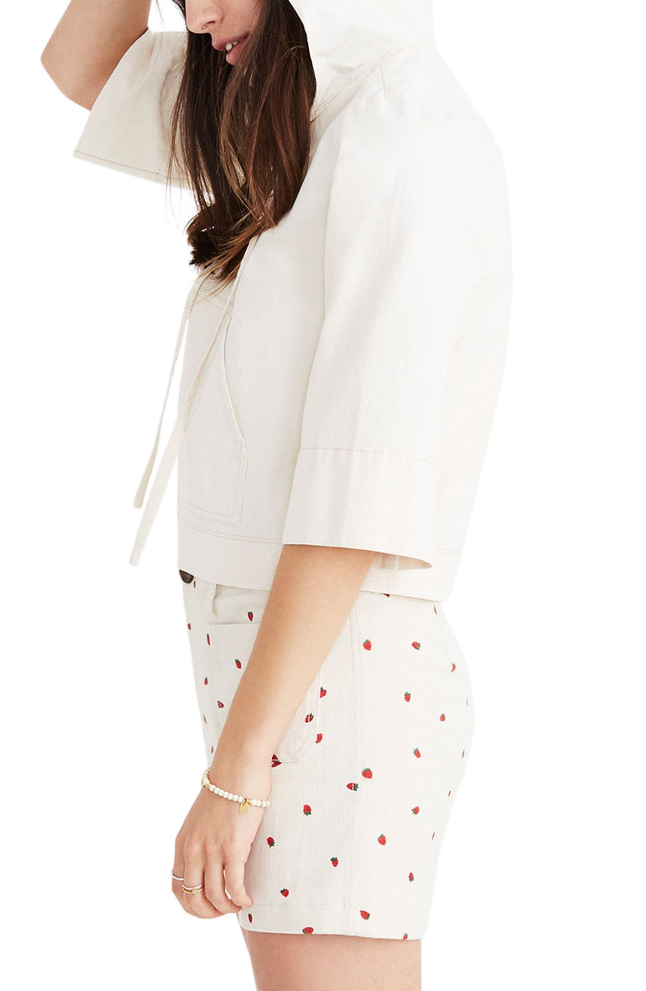 MADEWELL,                             Hooded Popover Top,                             Alternate thumbnail 3, color,                             100