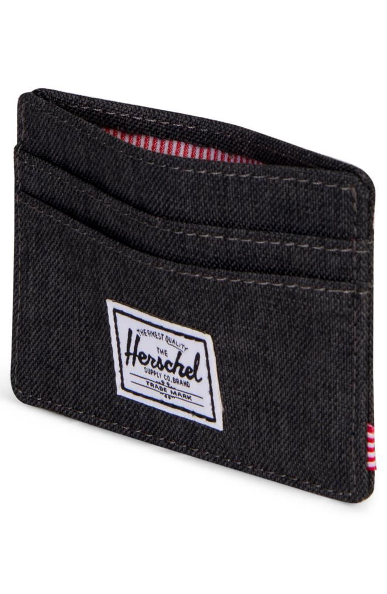 Charlie RFID Card Case,                             Alternate thumbnail 2, color,                             BLACK CROSSHATCH