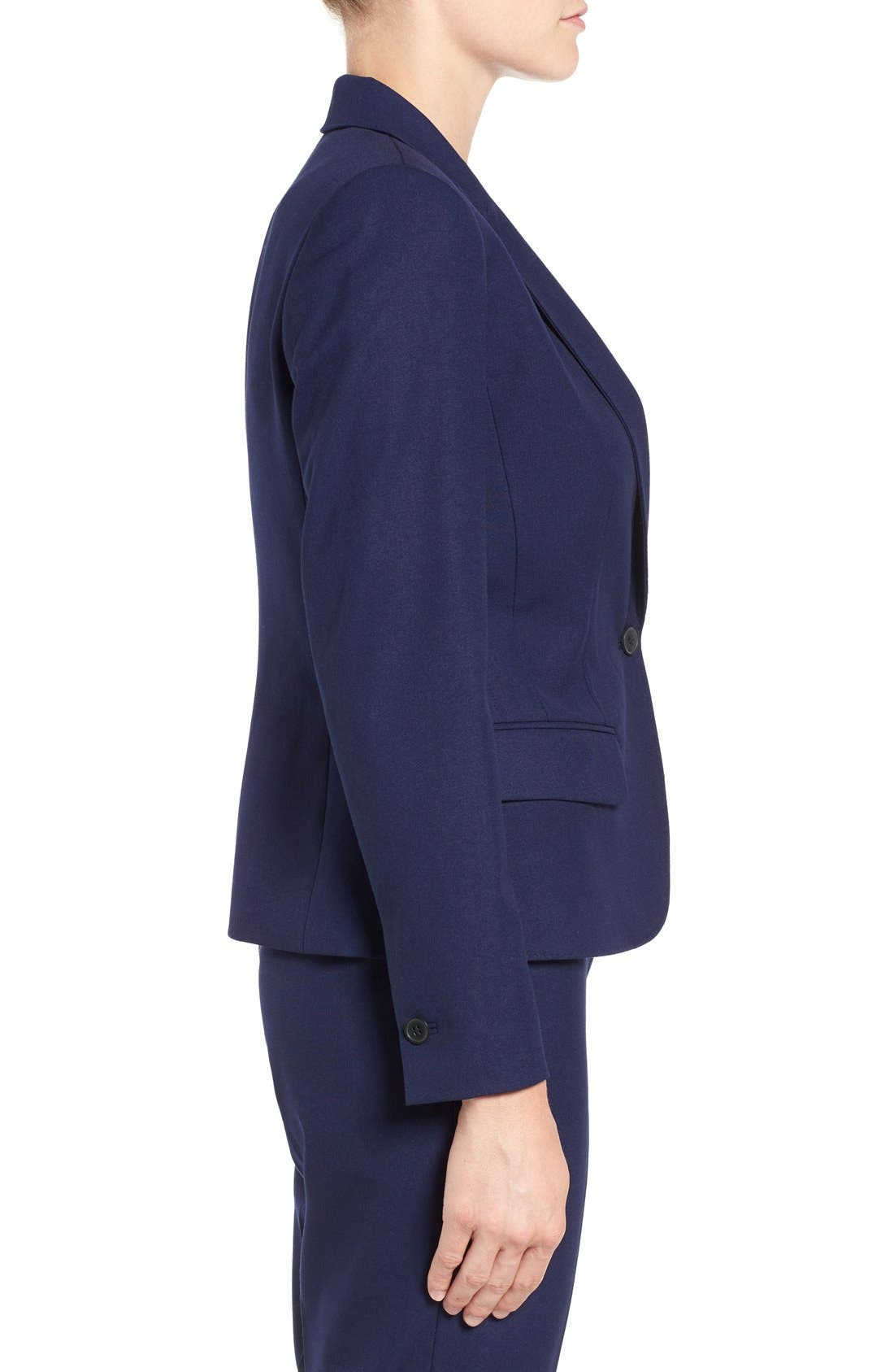 One-Button Suit Jacket,                             Alternate thumbnail 5, color,                             NAVY