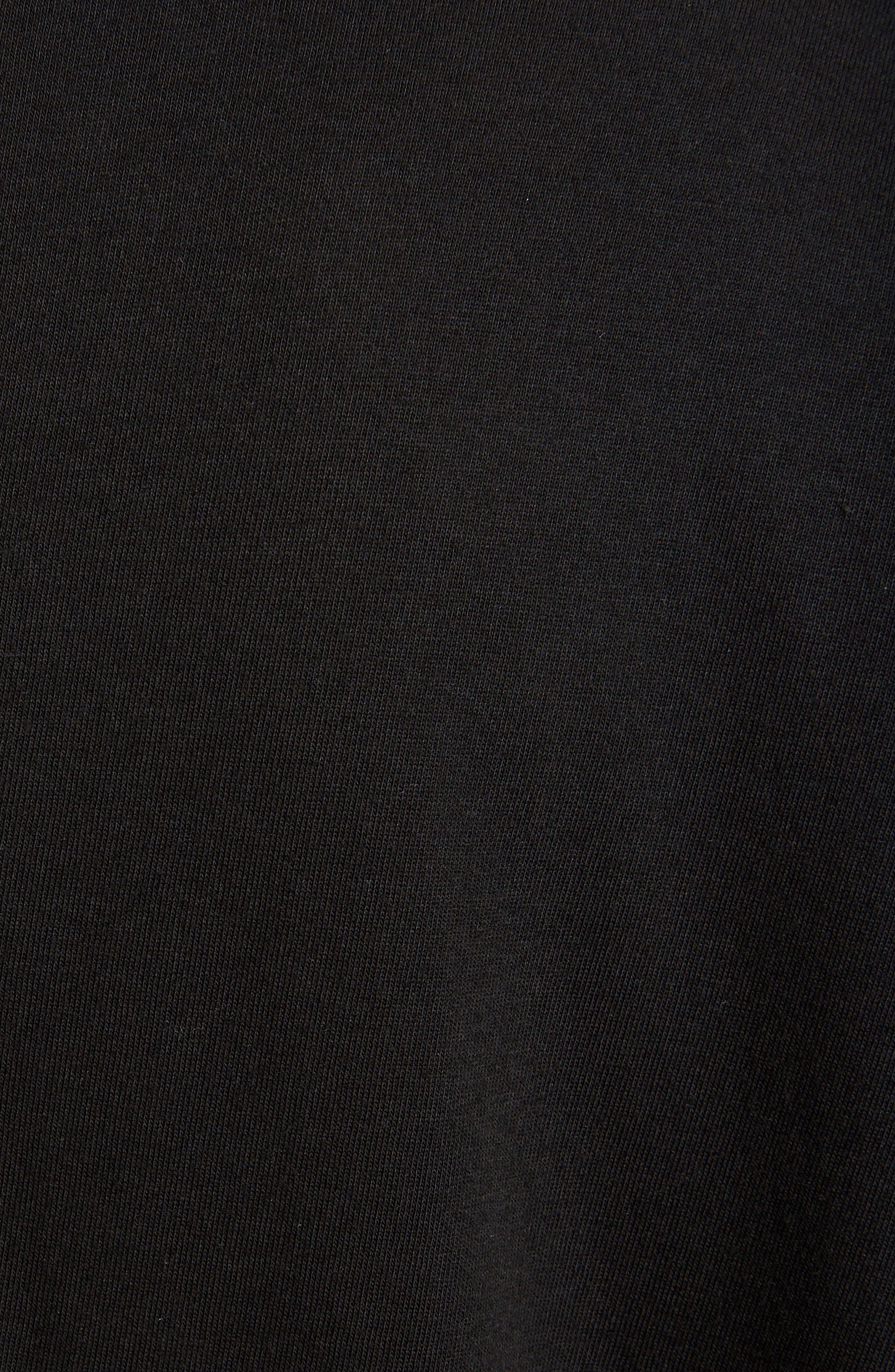 Sheer Hem T-Shirt Dress,                             Alternate thumbnail 5, color,                             001