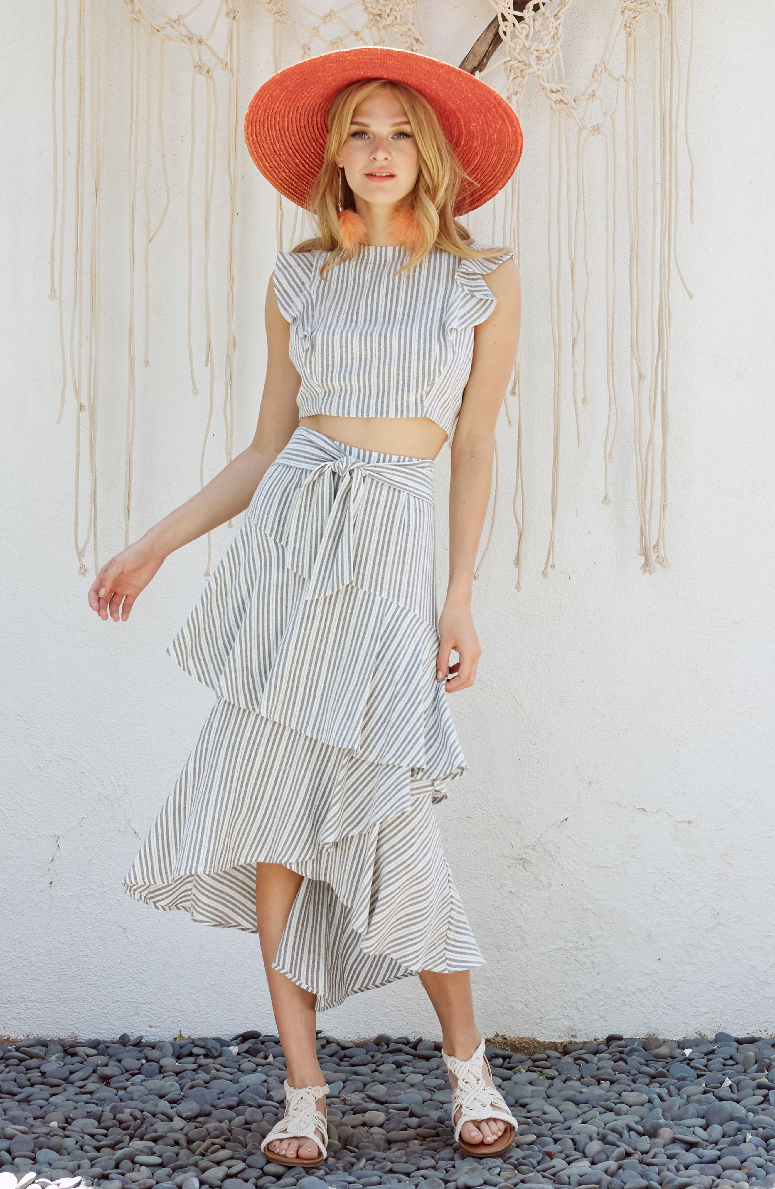 Vacay Flutter Sleeve Crop Top,                             Alternate thumbnail 10, color,                             061