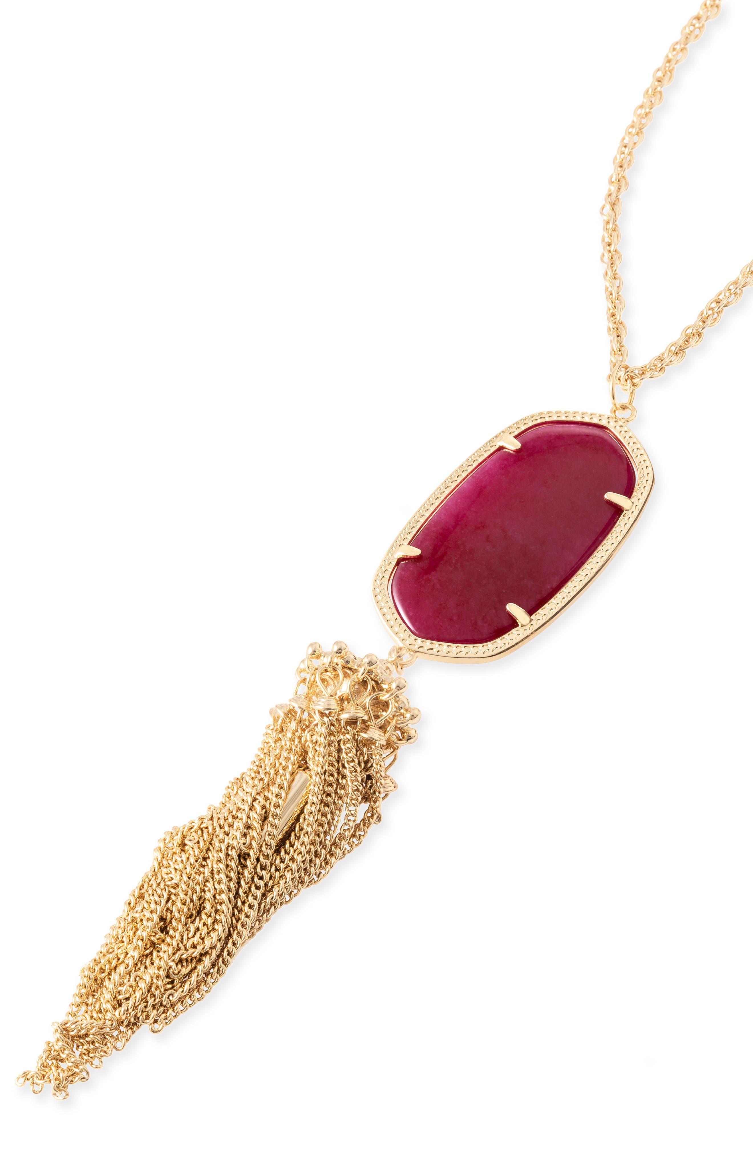 Rayne Stone Tassel Pendant Necklace,                             Main thumbnail 19, color,