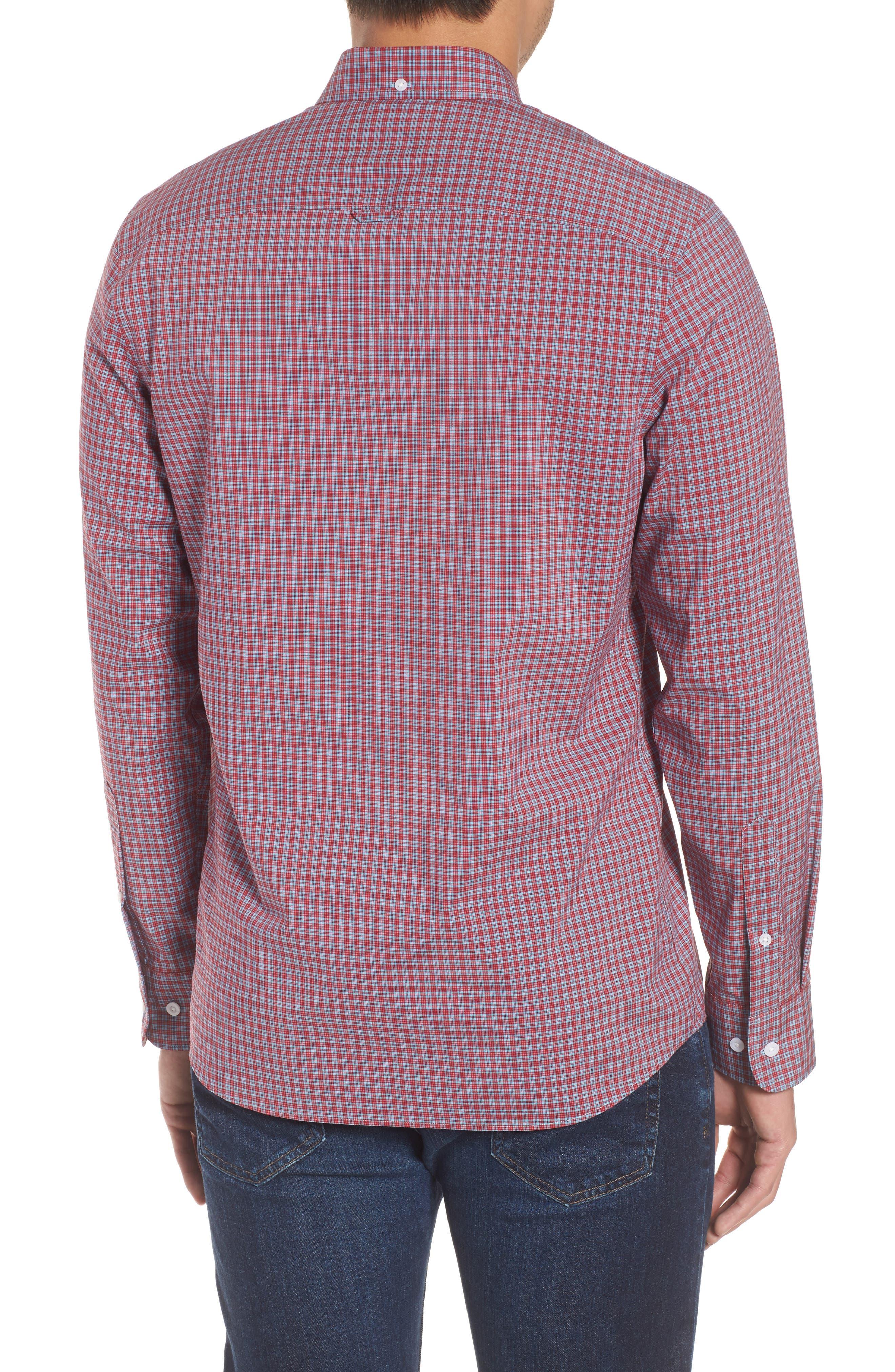 Tech-Smart Trim Fit Check Sport Shirt,                             Alternate thumbnail 2, color,                             610