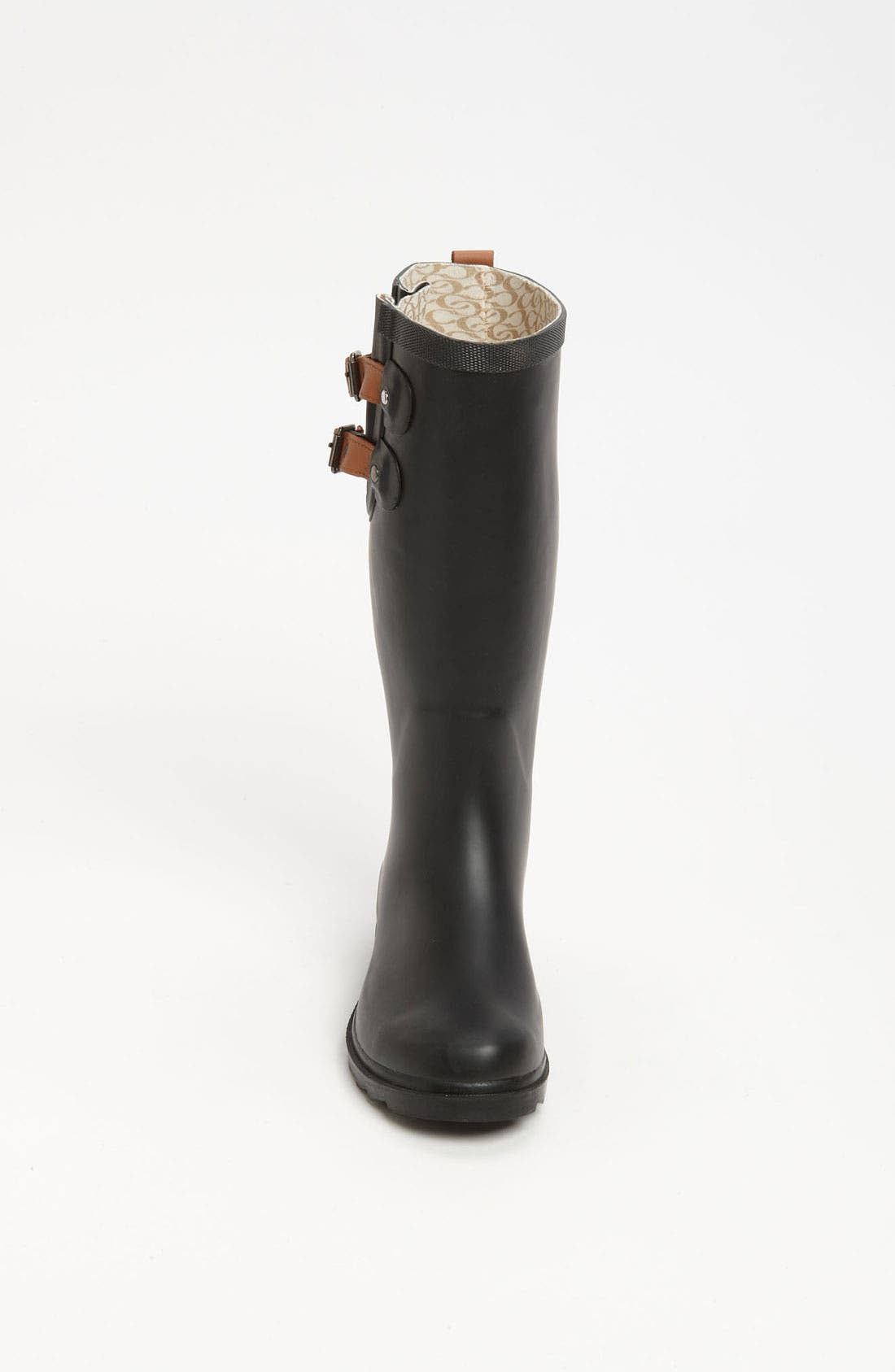 'Top Solid' Rain Boot,                             Alternate thumbnail 3, color,                             001