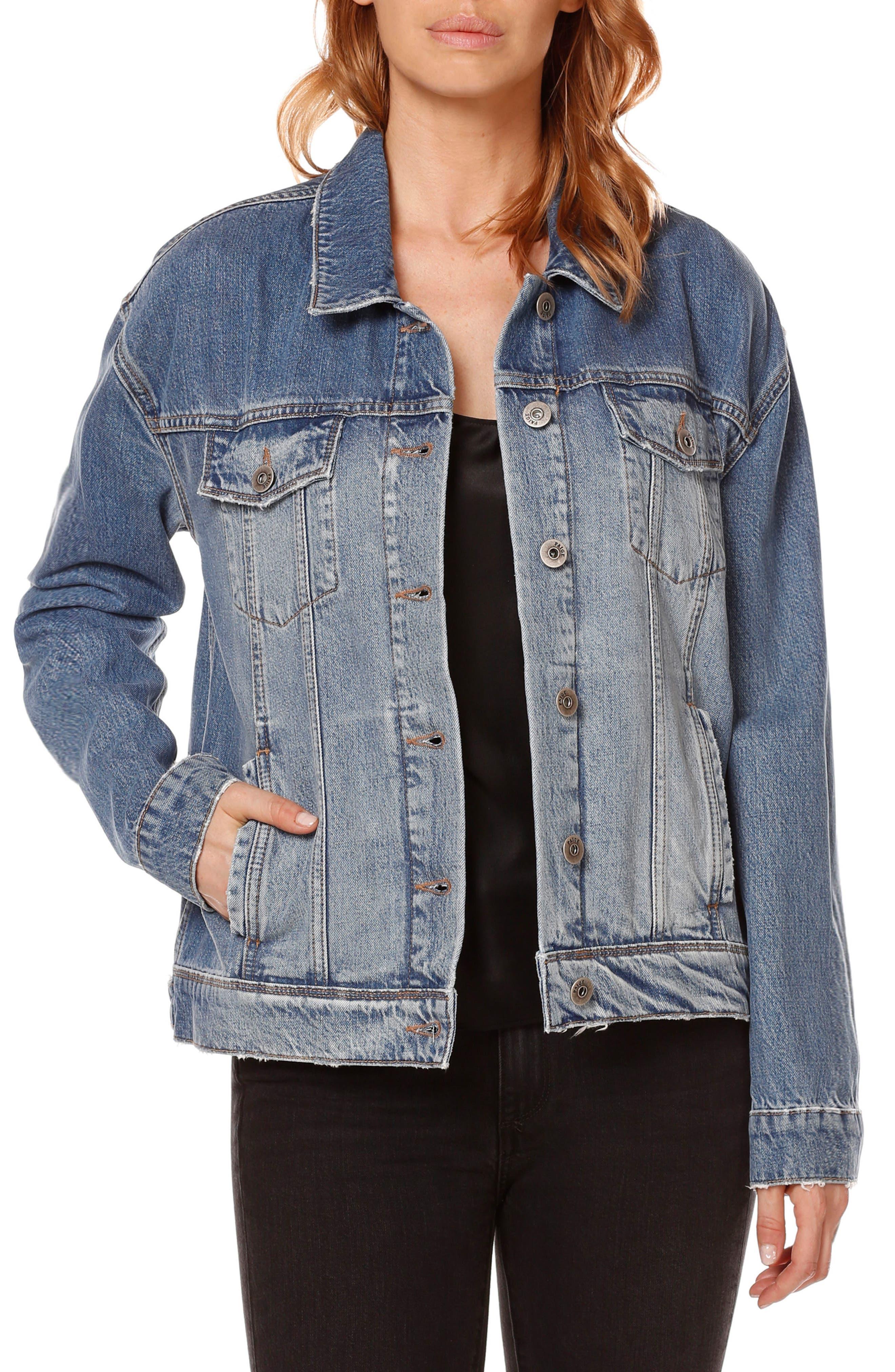Rosie HW x PAIGE Josephine Denim Jacket, Main, color, 400