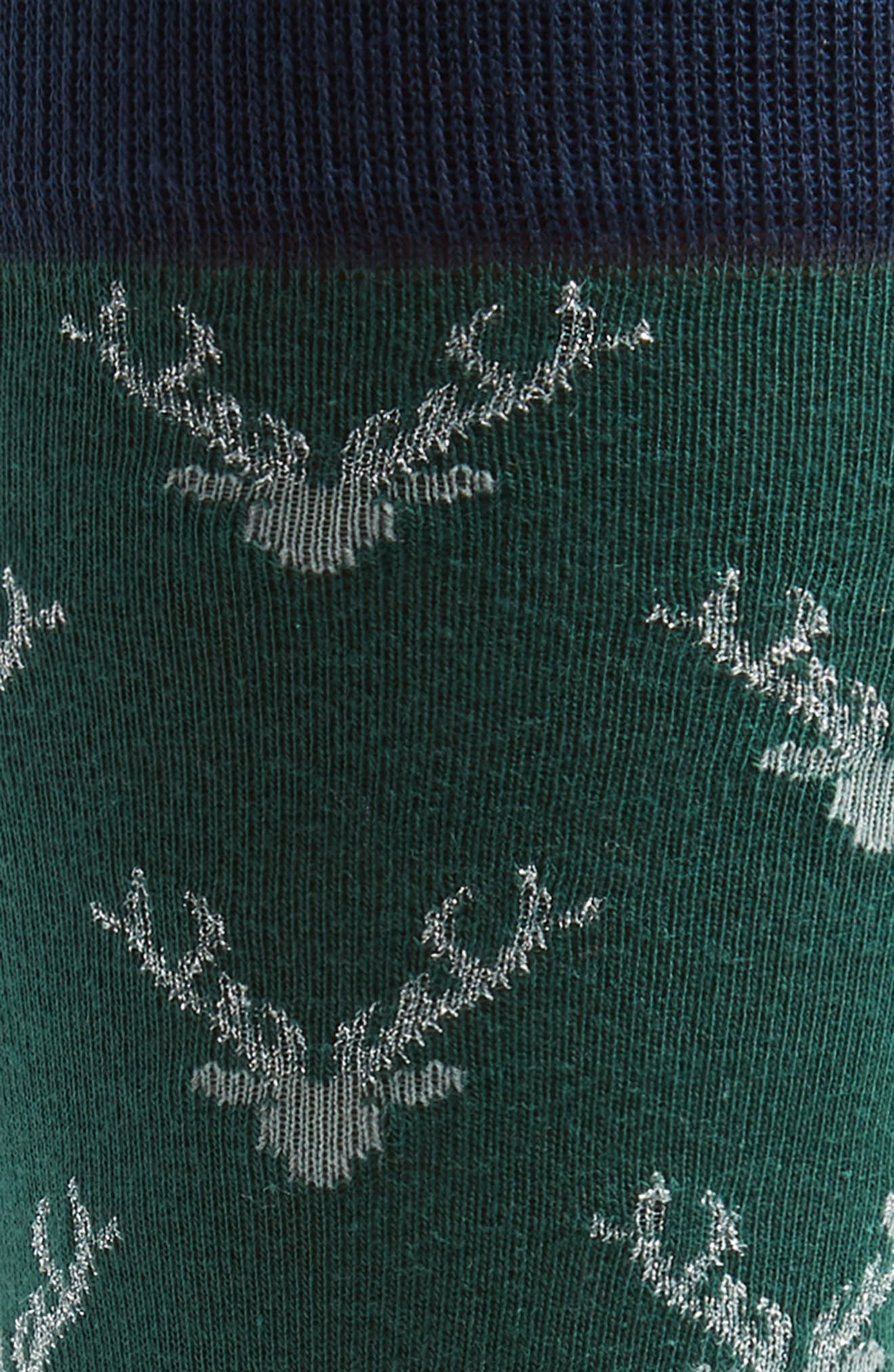 Holiday Staghead Socks,                             Alternate thumbnail 2, color,                             410