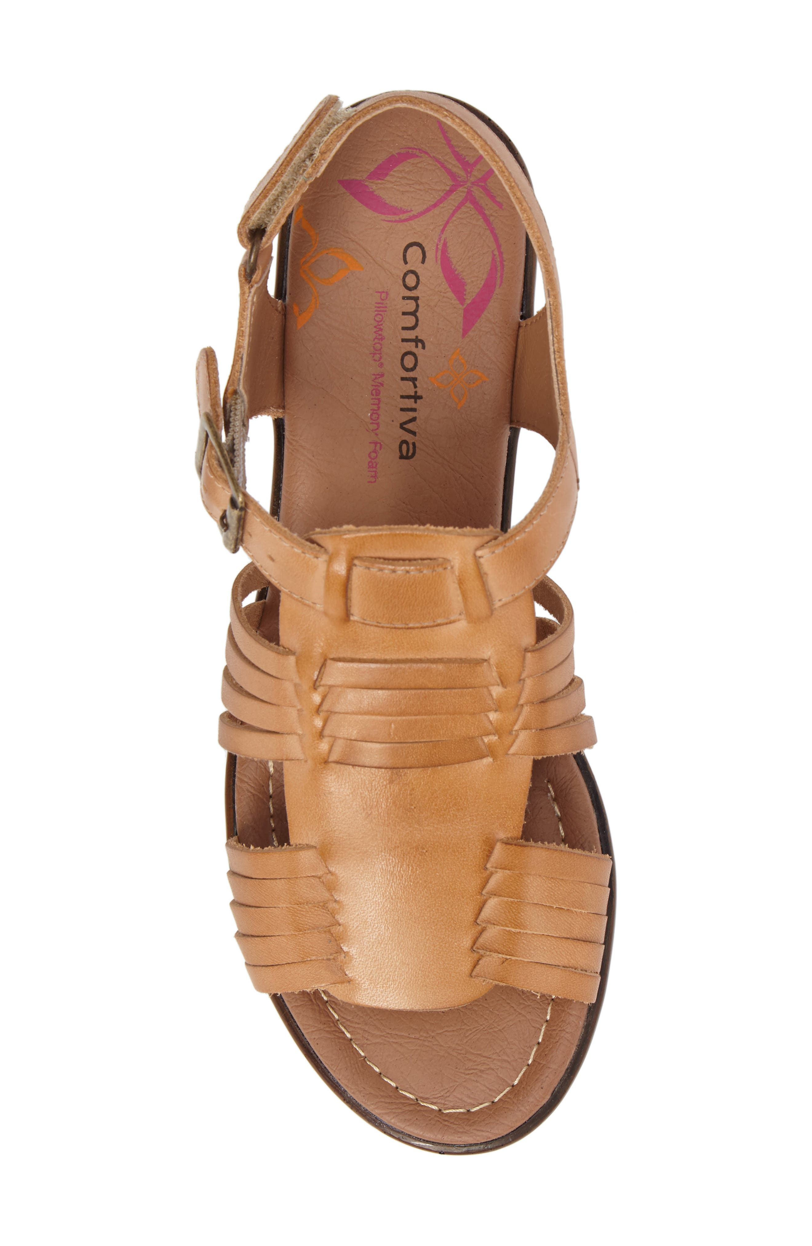 Freeport Sandal,                             Alternate thumbnail 5, color,                             NATURAL LEATHER