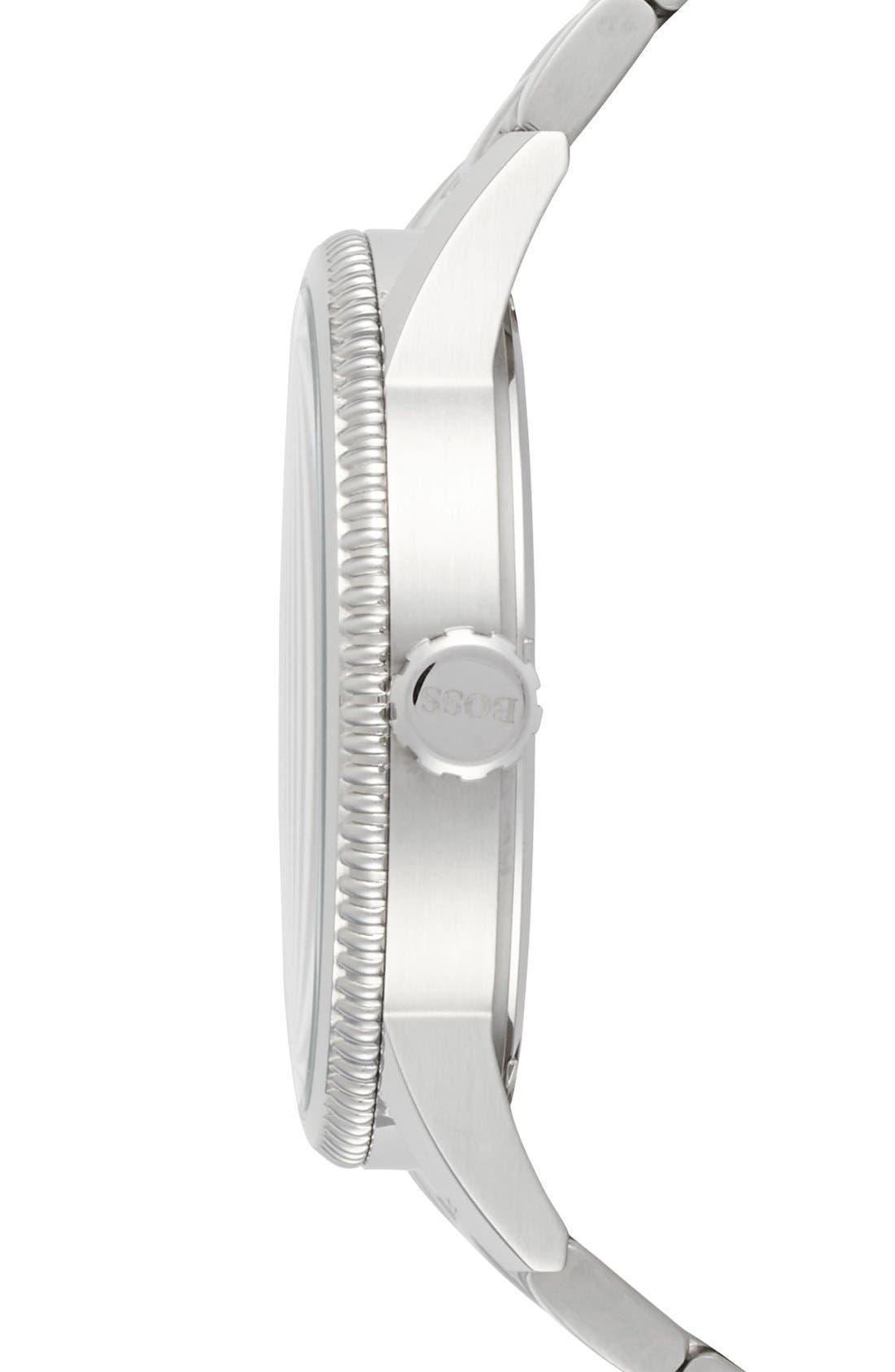 'Pilot' Bracelet Watch, 44mm,                             Alternate thumbnail 3, color,                             040