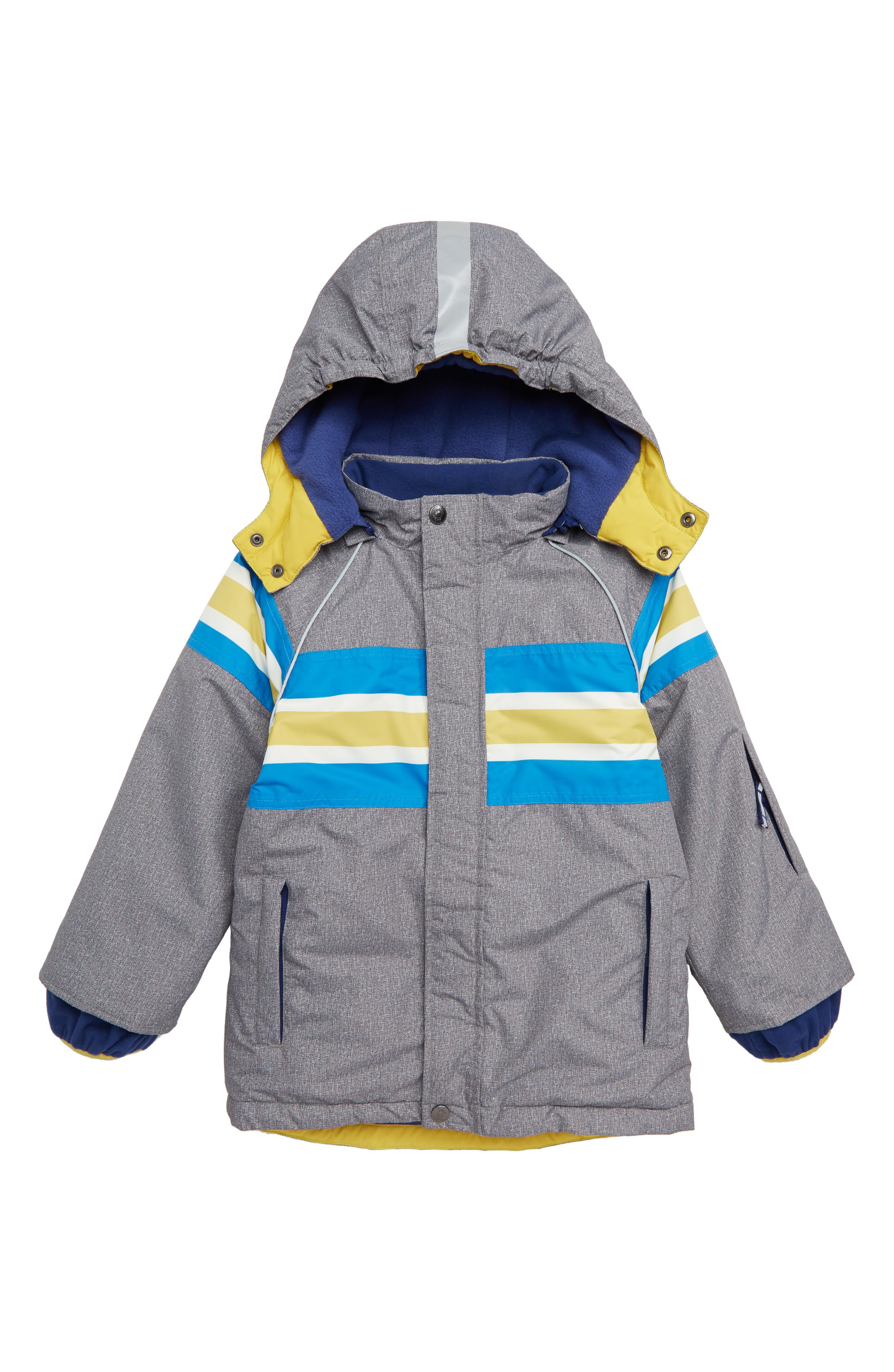 All Weather Waterproof Jacket,                         Main,                         color, GREY MARL