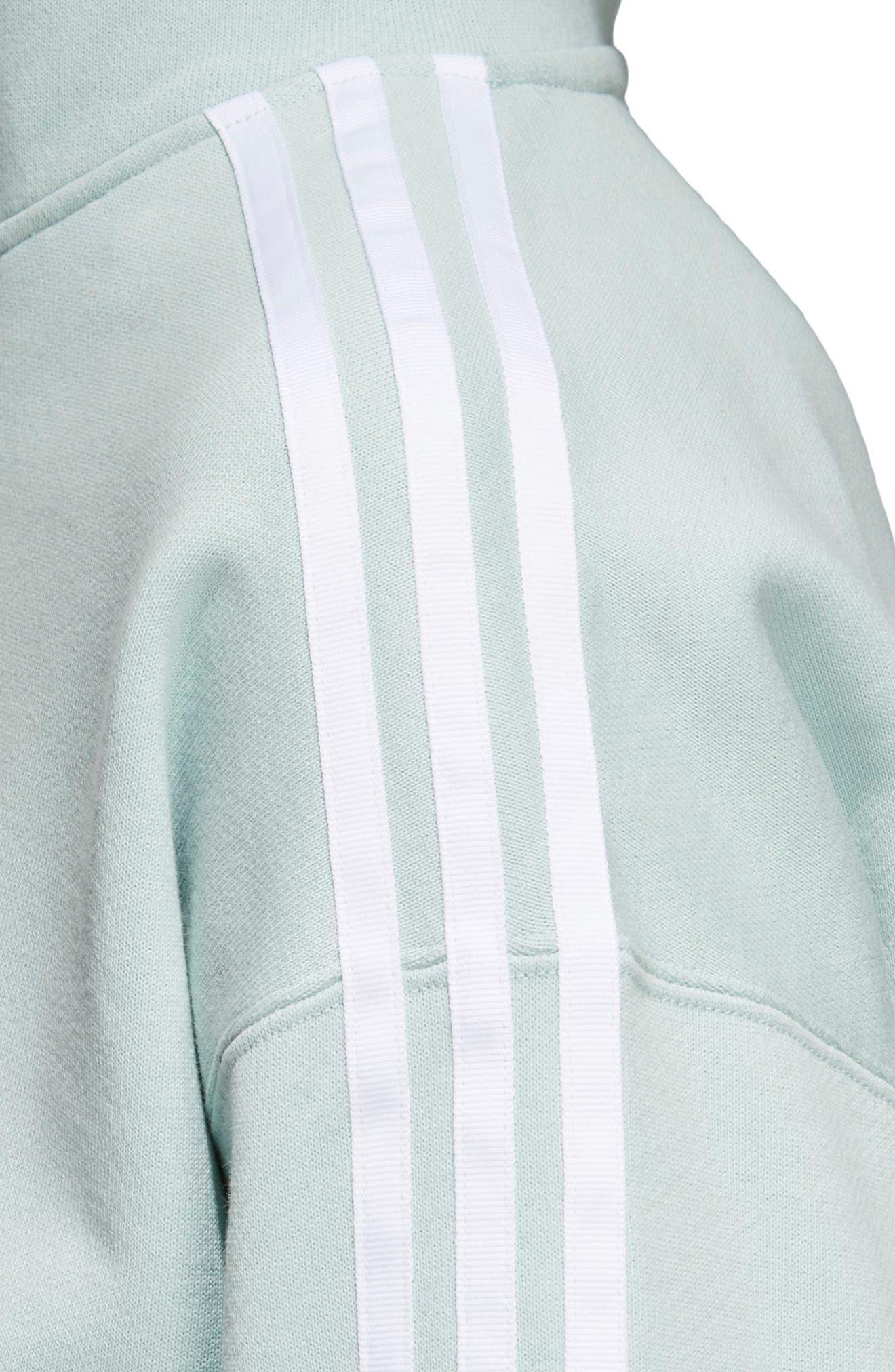 adidas Crop Hoodie,                             Alternate thumbnail 4, color,                             339