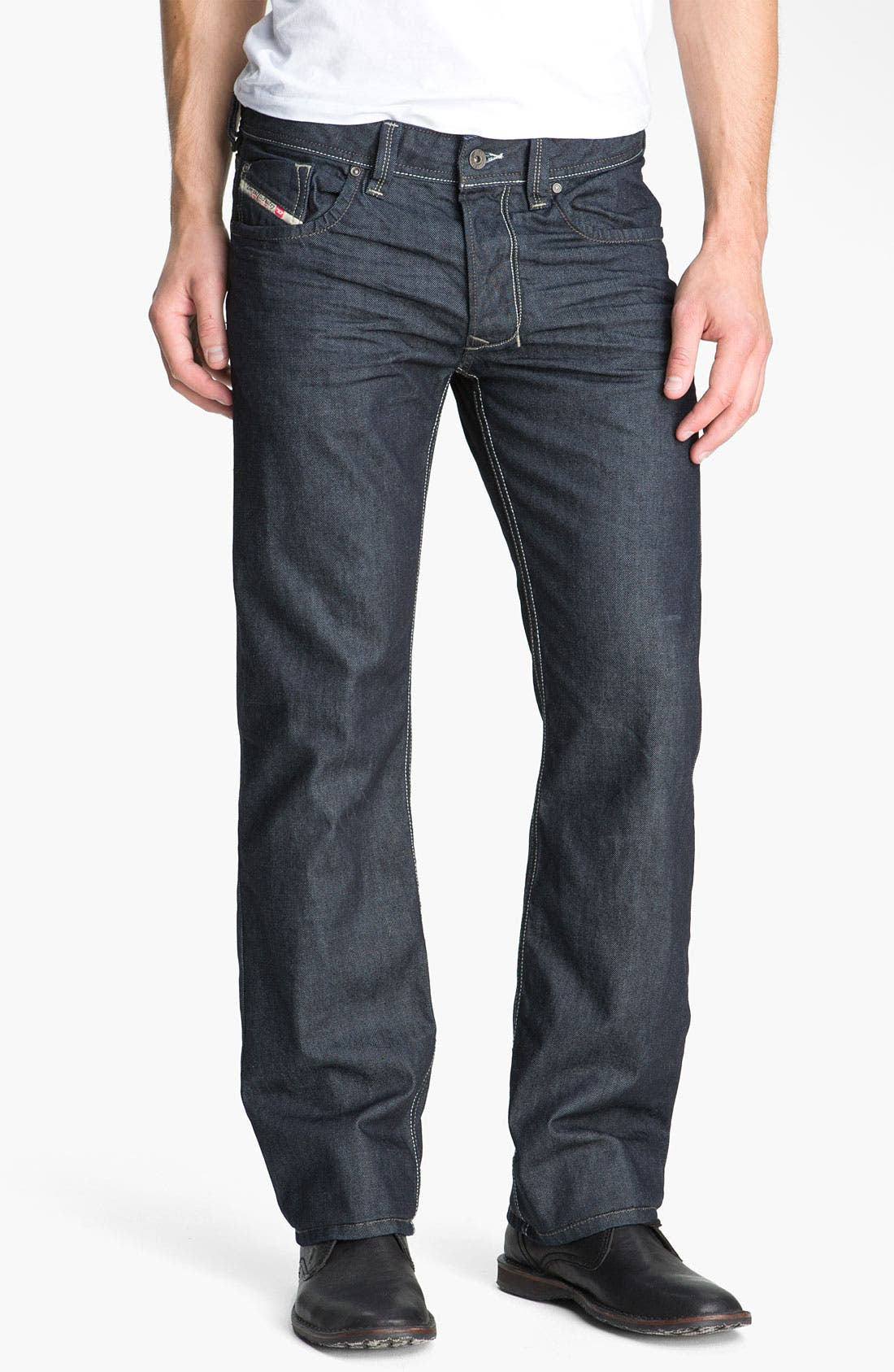 'Larkee' Straight Leg Jeans,                             Alternate thumbnail 3, color,                             400