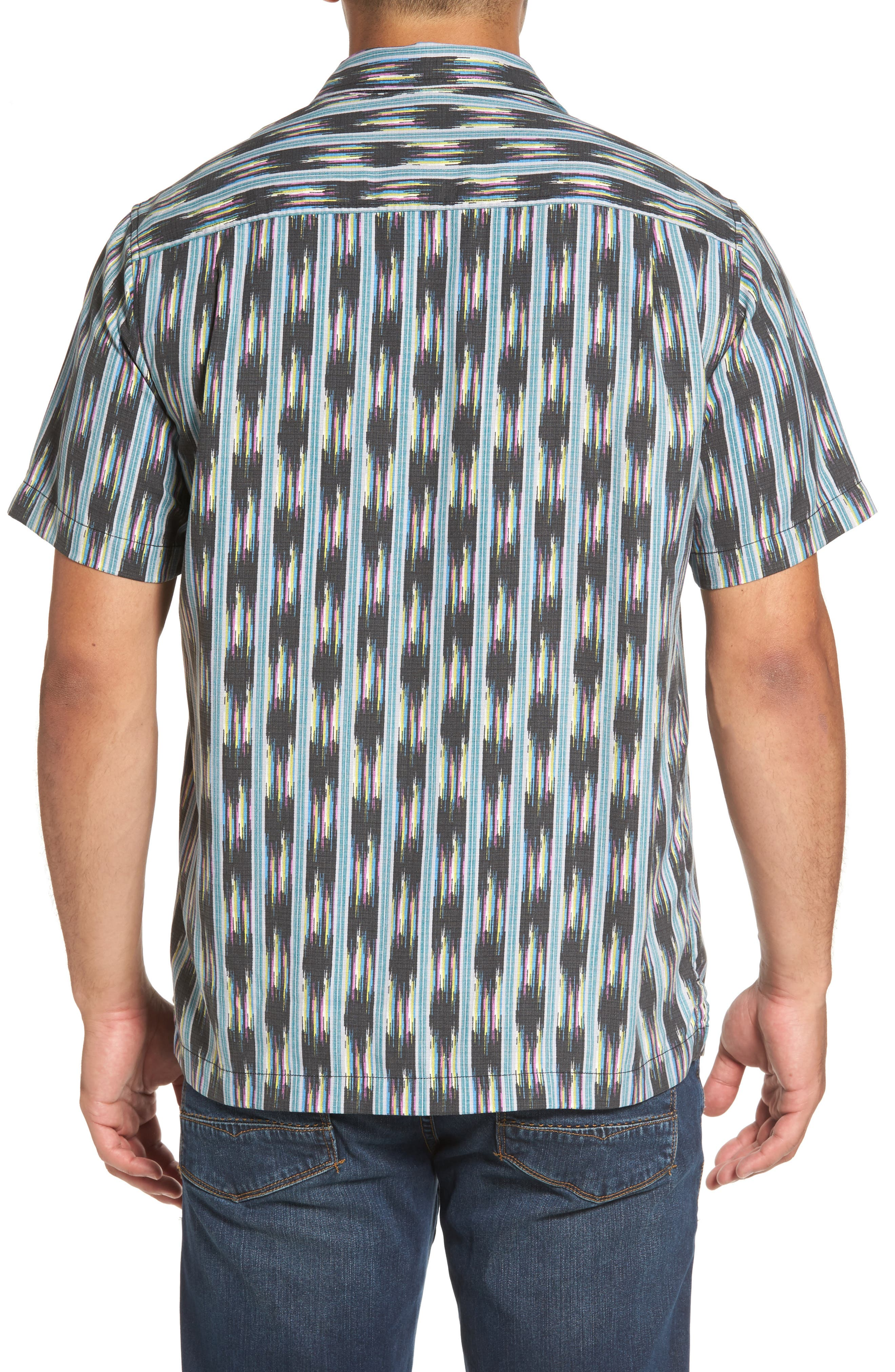 Ikat on a Hot Tin Roof Standard Fit Silk Blend Camp Shirt,                             Alternate thumbnail 2, color,                             001