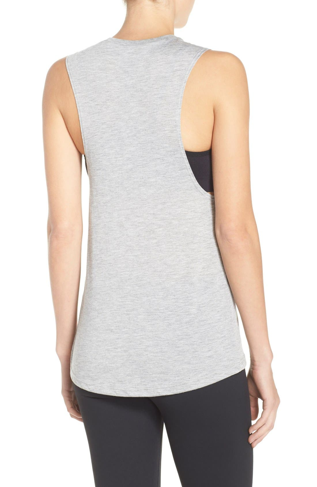 Rosé All Day Jersey Muscle Tee,                             Alternate thumbnail 5, color,                             020