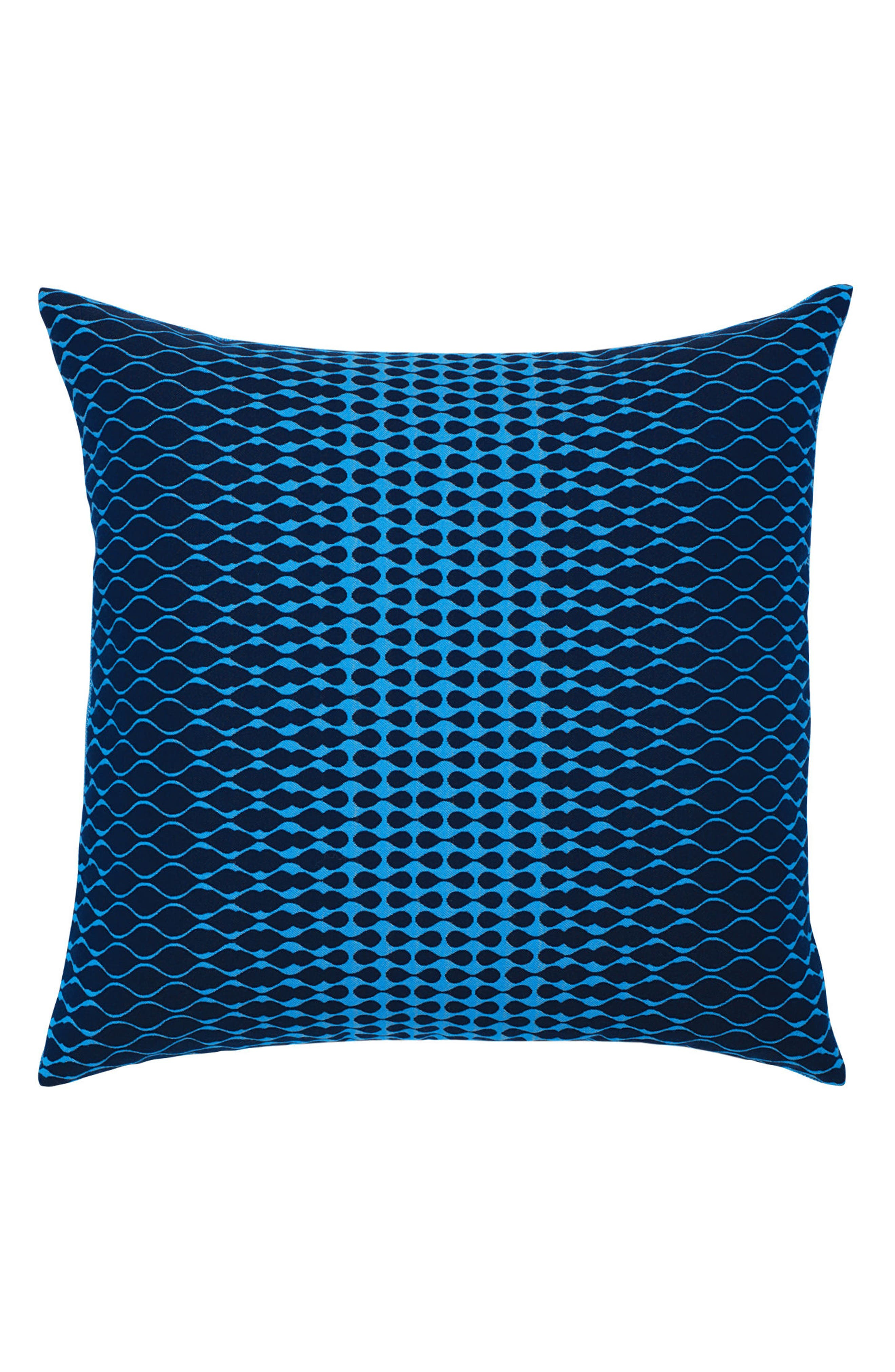 Optic Azure Indoor/Outdoor Accent Pillow,                         Main,                         color, BLUE
