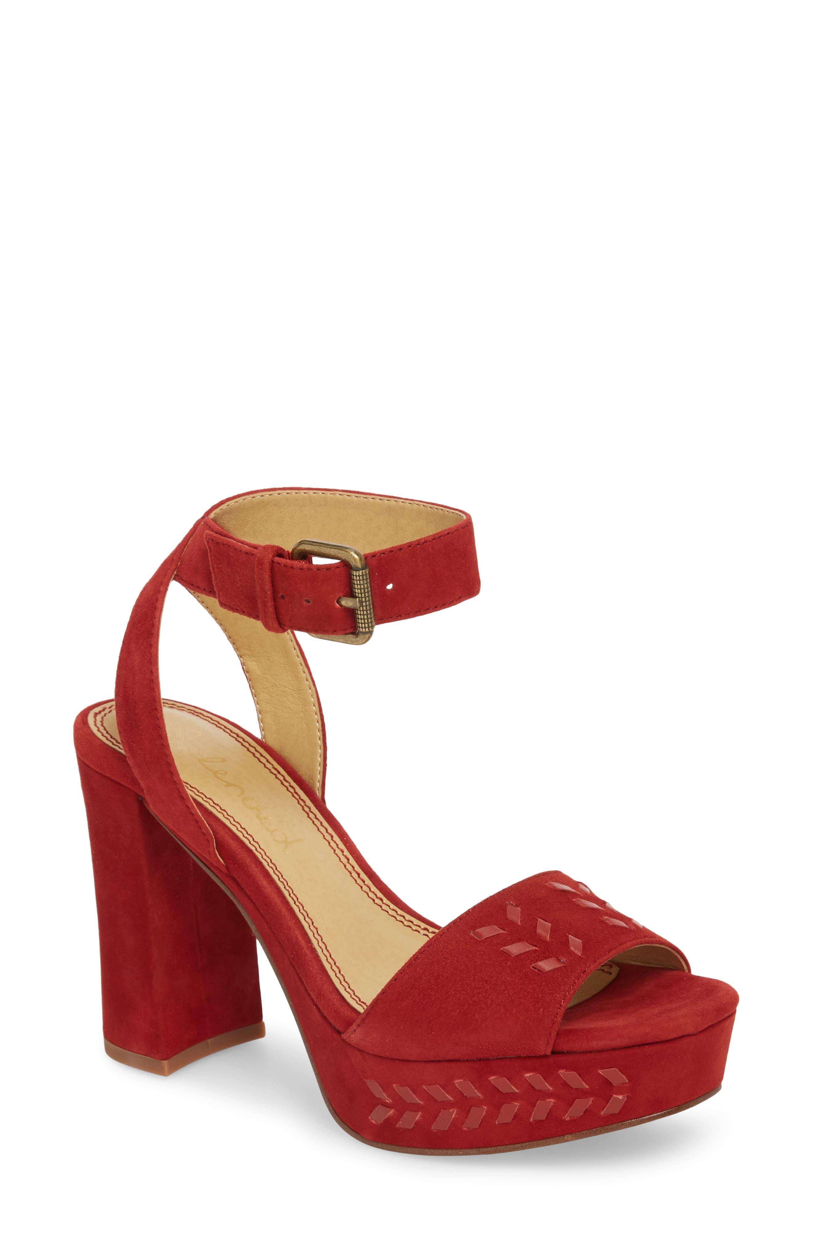 Splendid Neesha Platform Sandal, Red