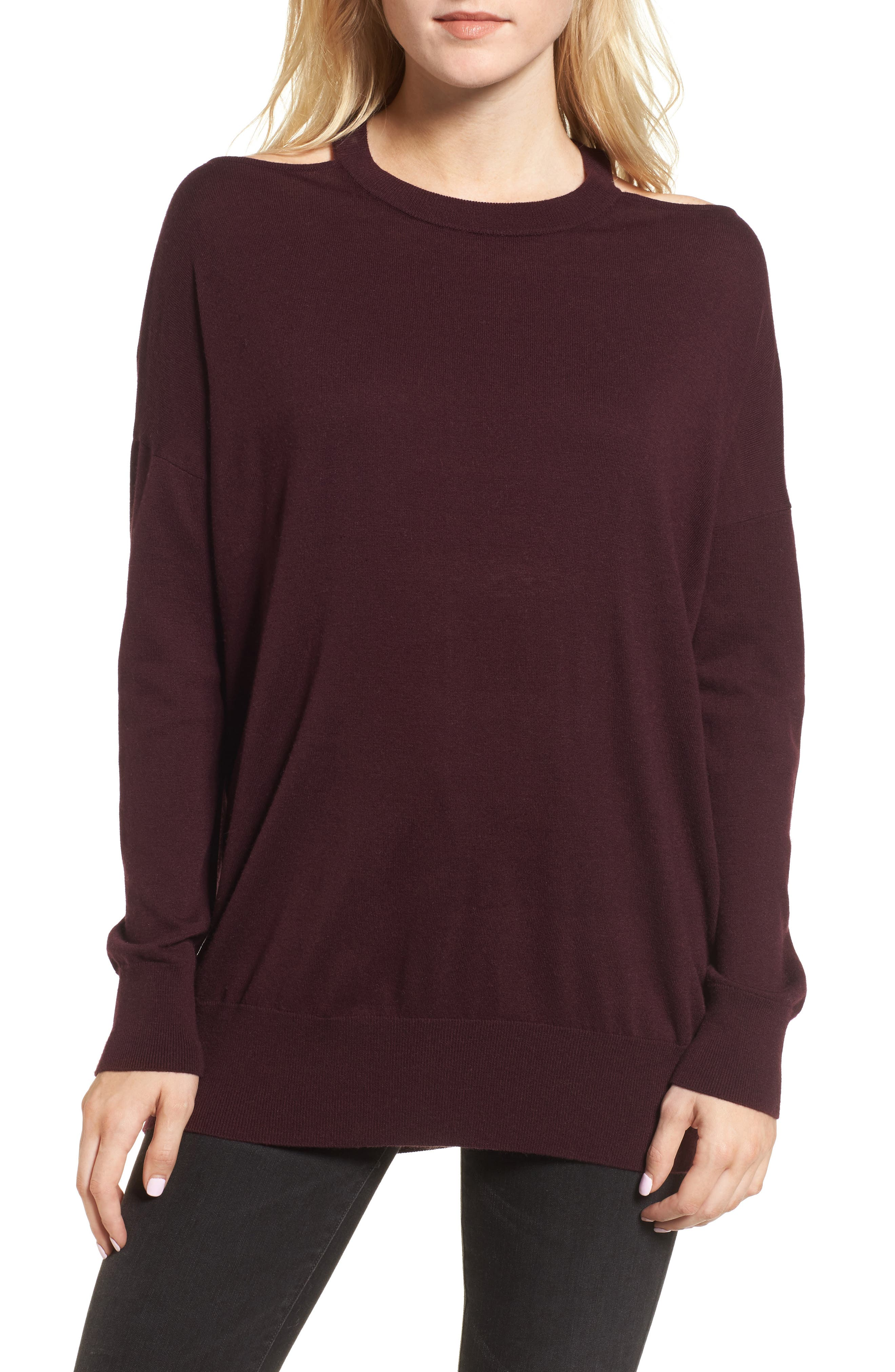 Canarise Cutout Sweater,                             Main thumbnail 2, color,