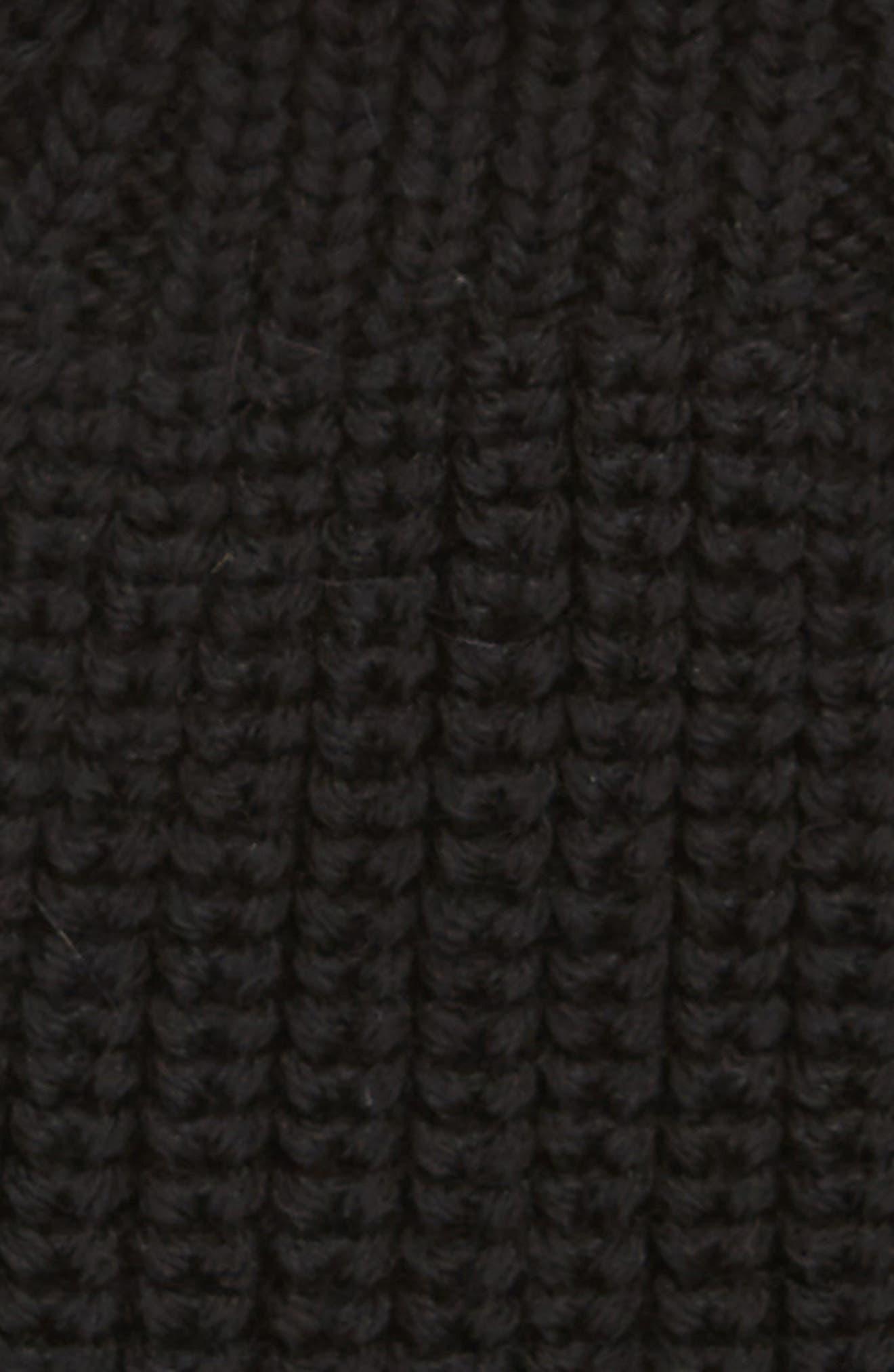 Knit Wool Beanie,                             Alternate thumbnail 2, color,                             BLACK