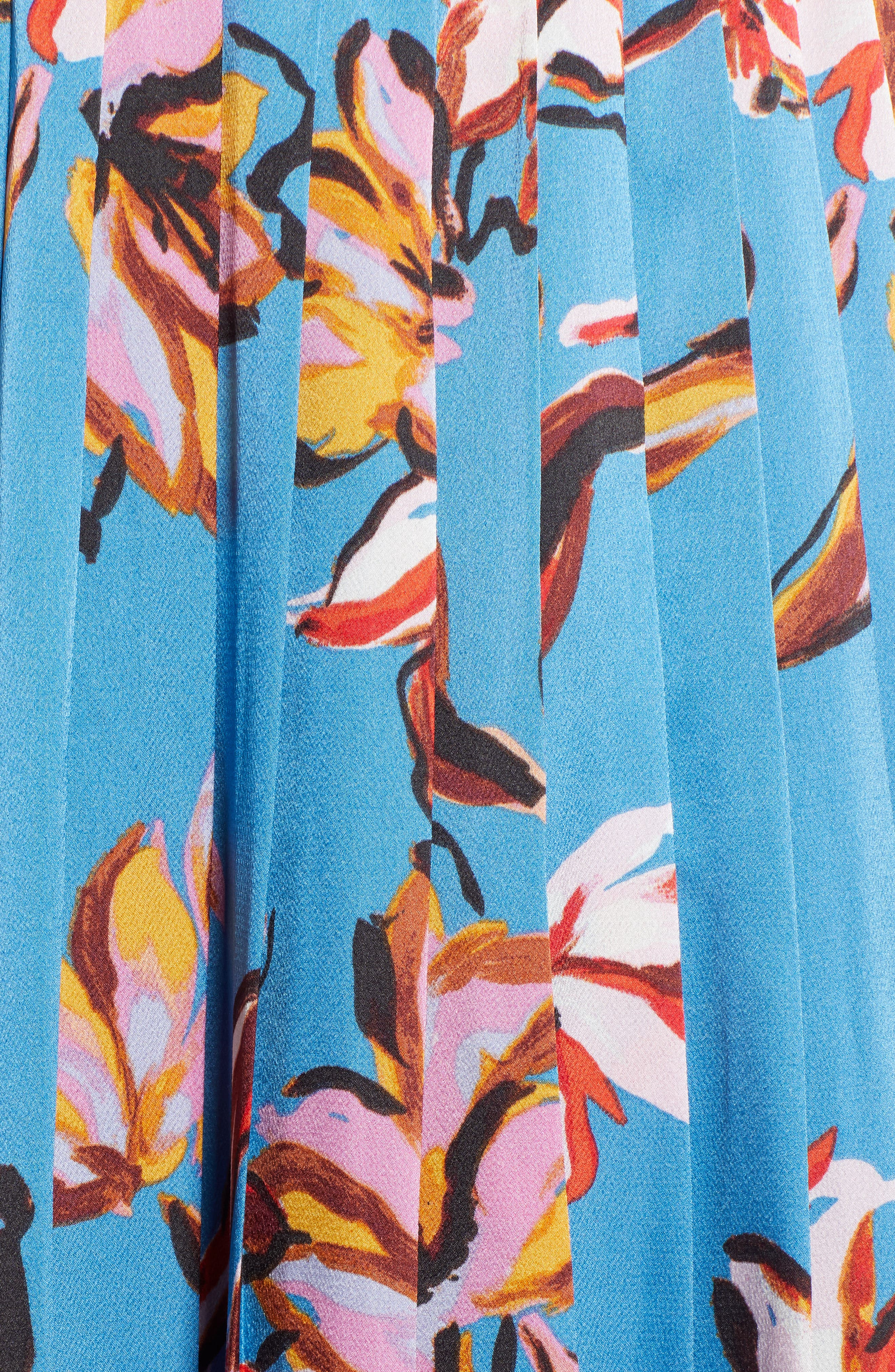 HALOGEN<SUP>®</SUP>,                             Printed Pleated Skirt,                             Alternate thumbnail 5, color,                             420