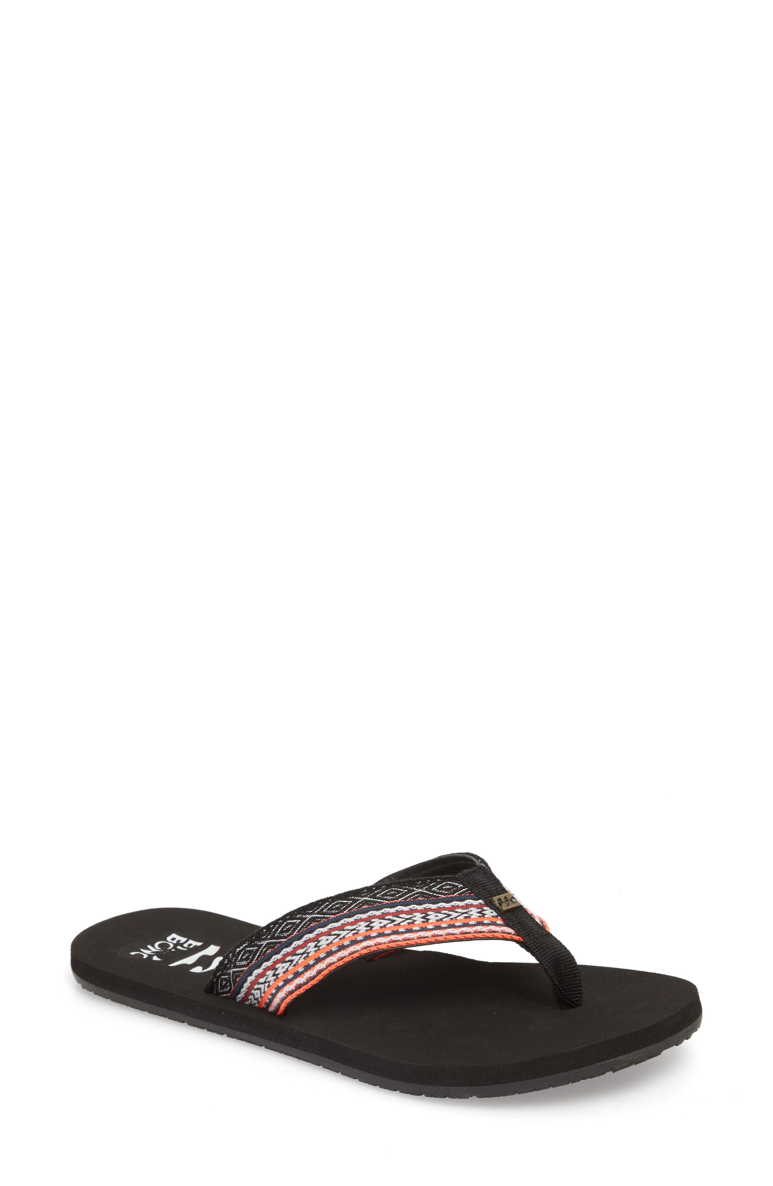 Baja Flip Flop,                         Main,                         color, BLACK CORAL