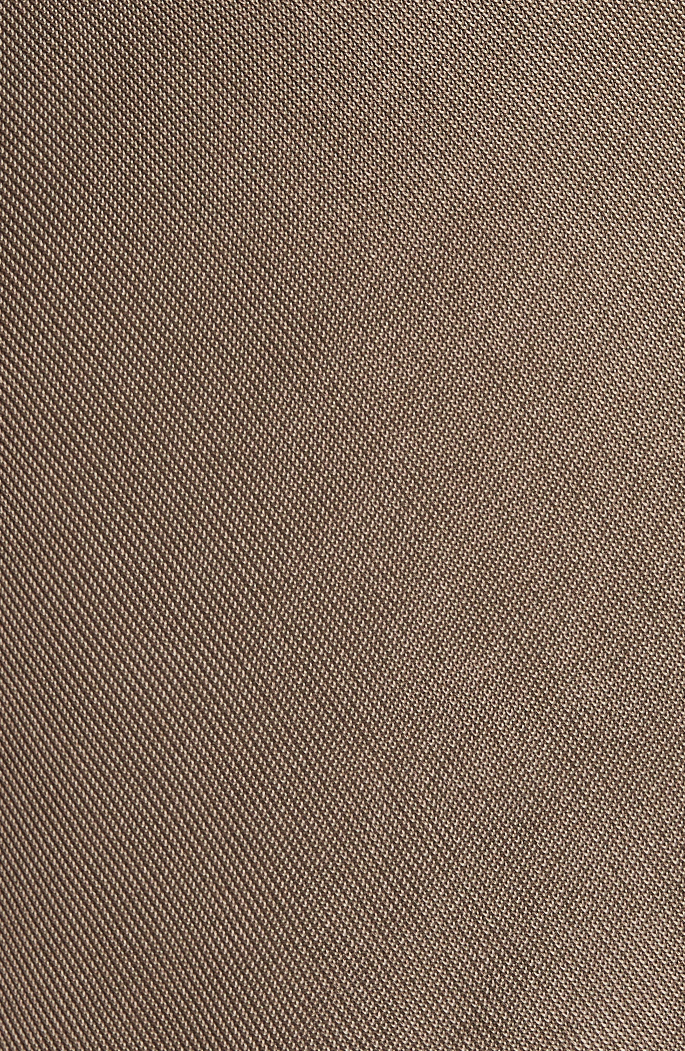 CUSHNIE,                             Cowl Neck Sheath Dress,                             Alternate thumbnail 6, color,                             MINK