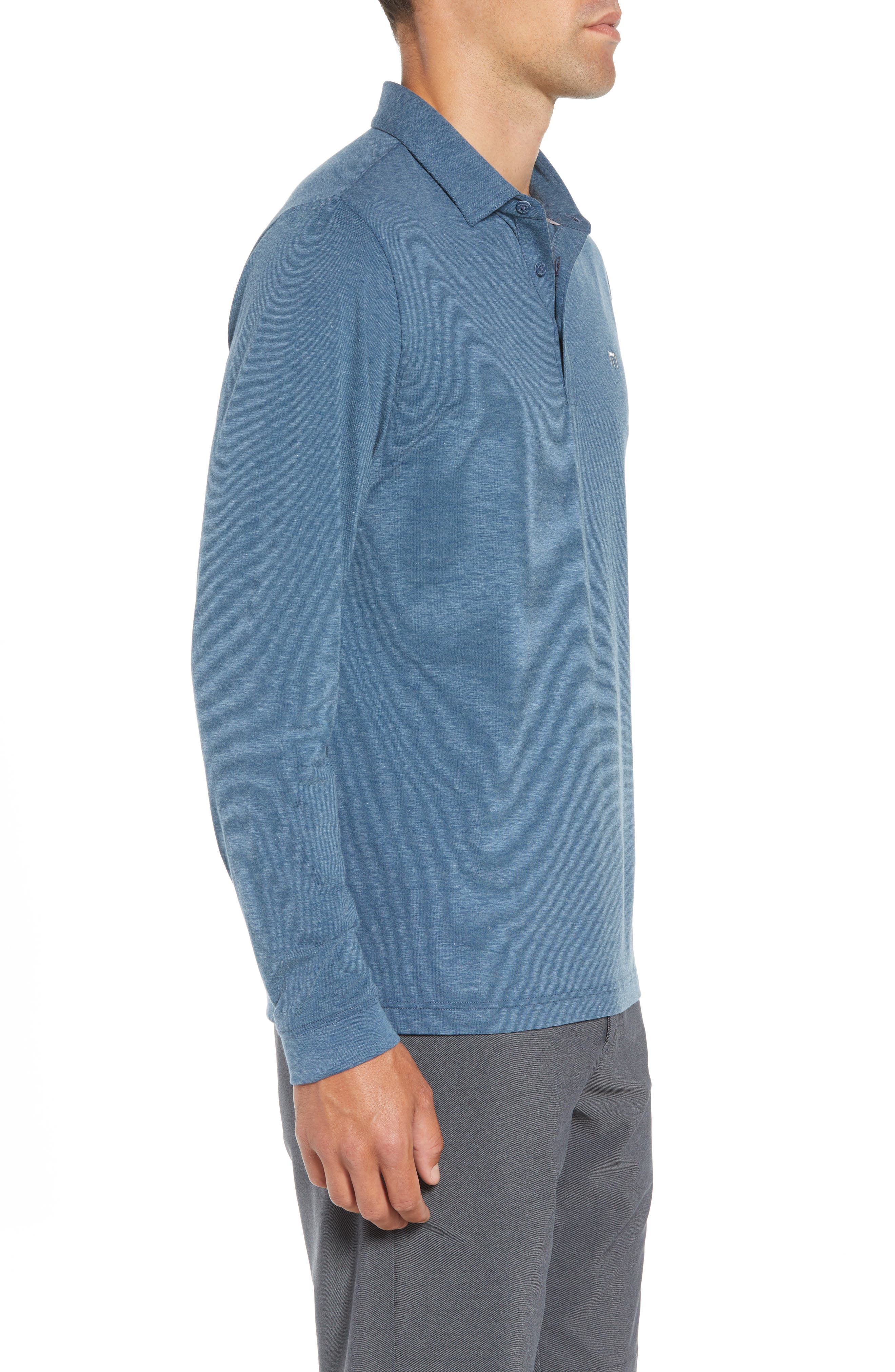 Backup Plan Regular Fit Polo,                             Alternate thumbnail 3, color,                             TRADEWINDS/ BLUE WING TEAL