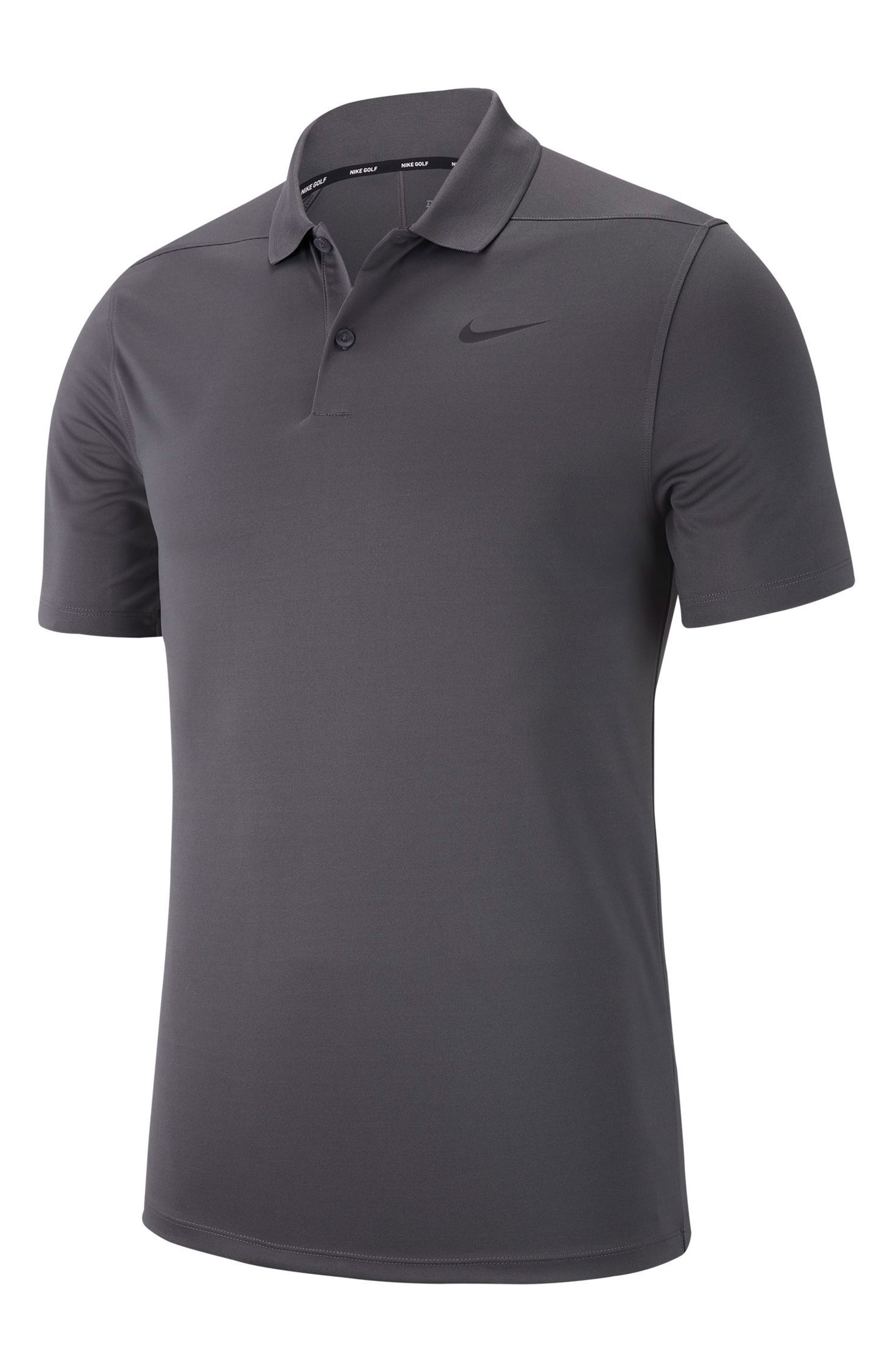 Dry Victory Golf Polo,                             Alternate thumbnail 2, color,                             DARK GREY/ BLACK