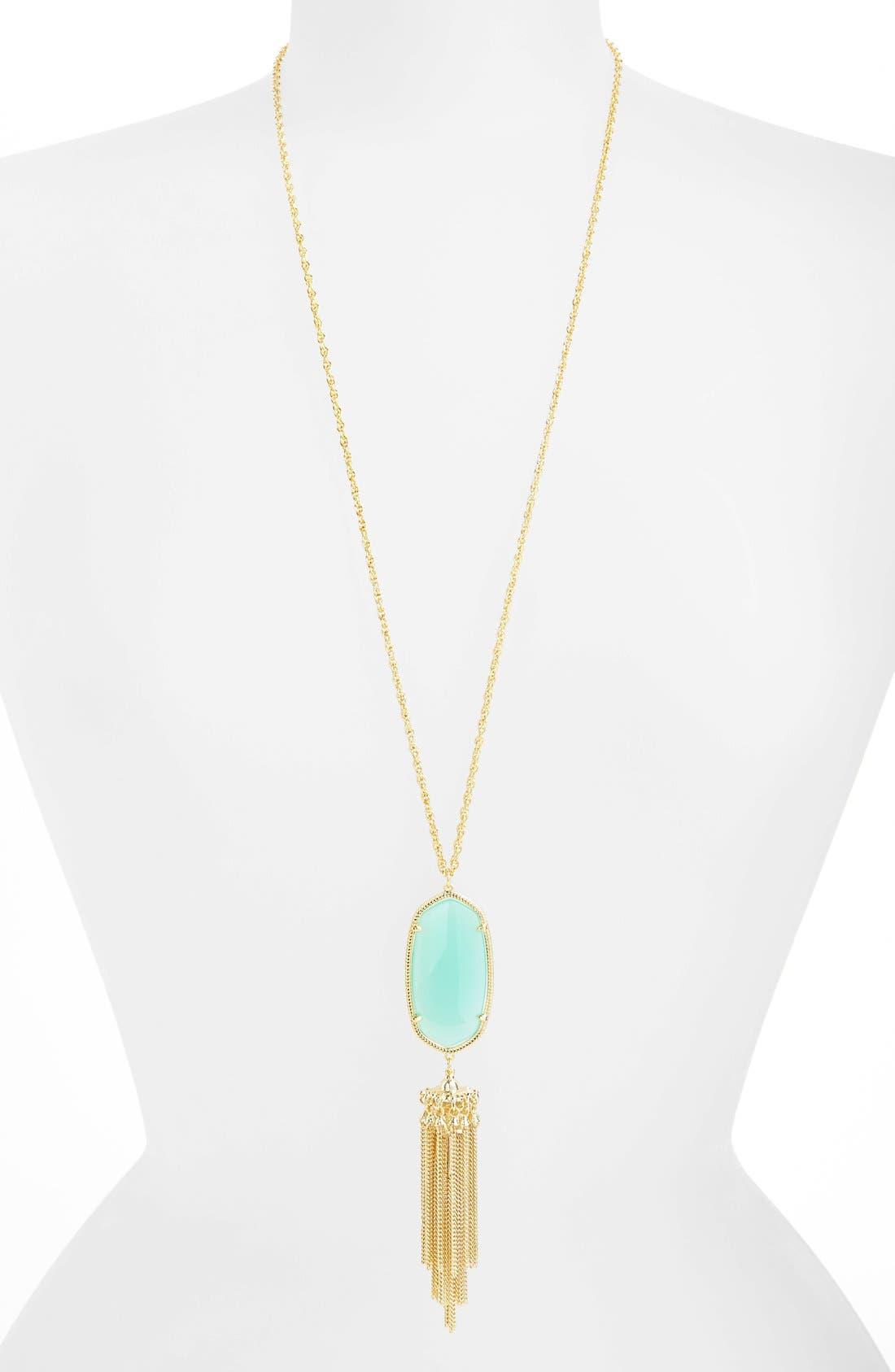 Rayne Stone Tassel Pendant Necklace,                             Alternate thumbnail 117, color,