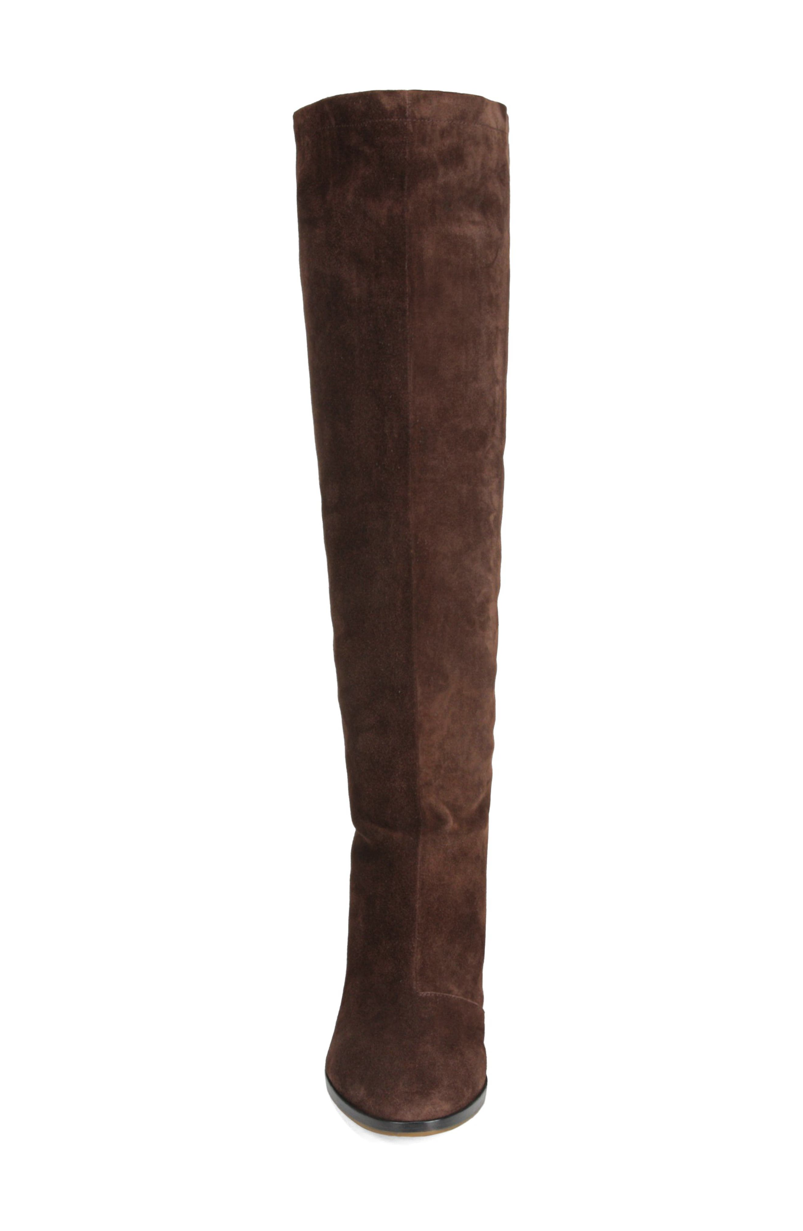 Casper Knee High Pull-On Boot,                             Alternate thumbnail 4, color,                             COTTO BROWN