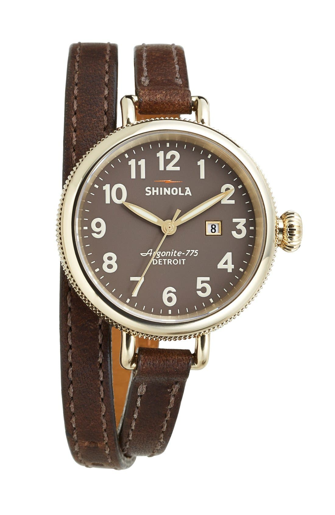 'The Birdy' Double Wrap Leather Strap Watch, 34mm,                             Alternate thumbnail 68, color,