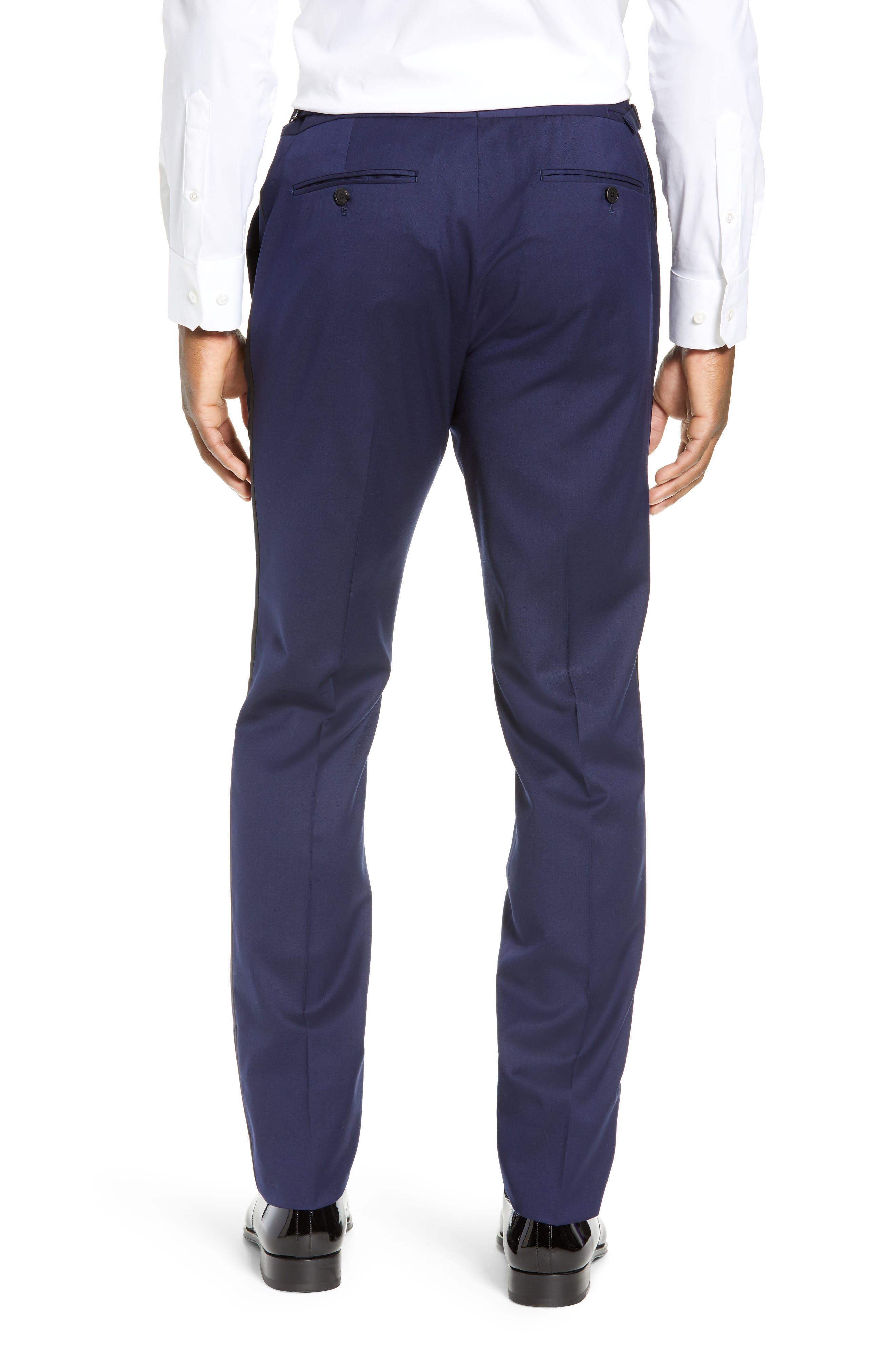 Capstone Slim Fit Tuxedo Trousers,                             Alternate thumbnail 2, color,                             NAVY