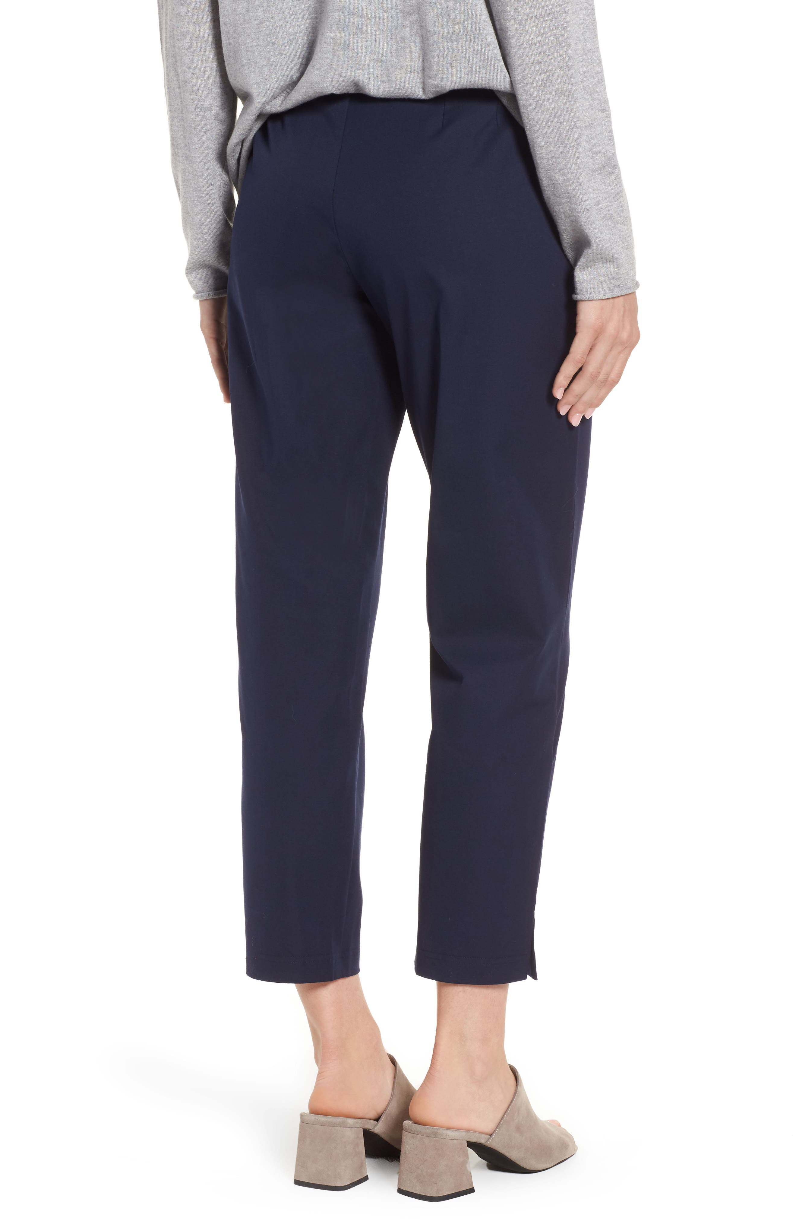 Organic Stretch Cotton Twill Ankle Pants,                             Alternate thumbnail 26, color,