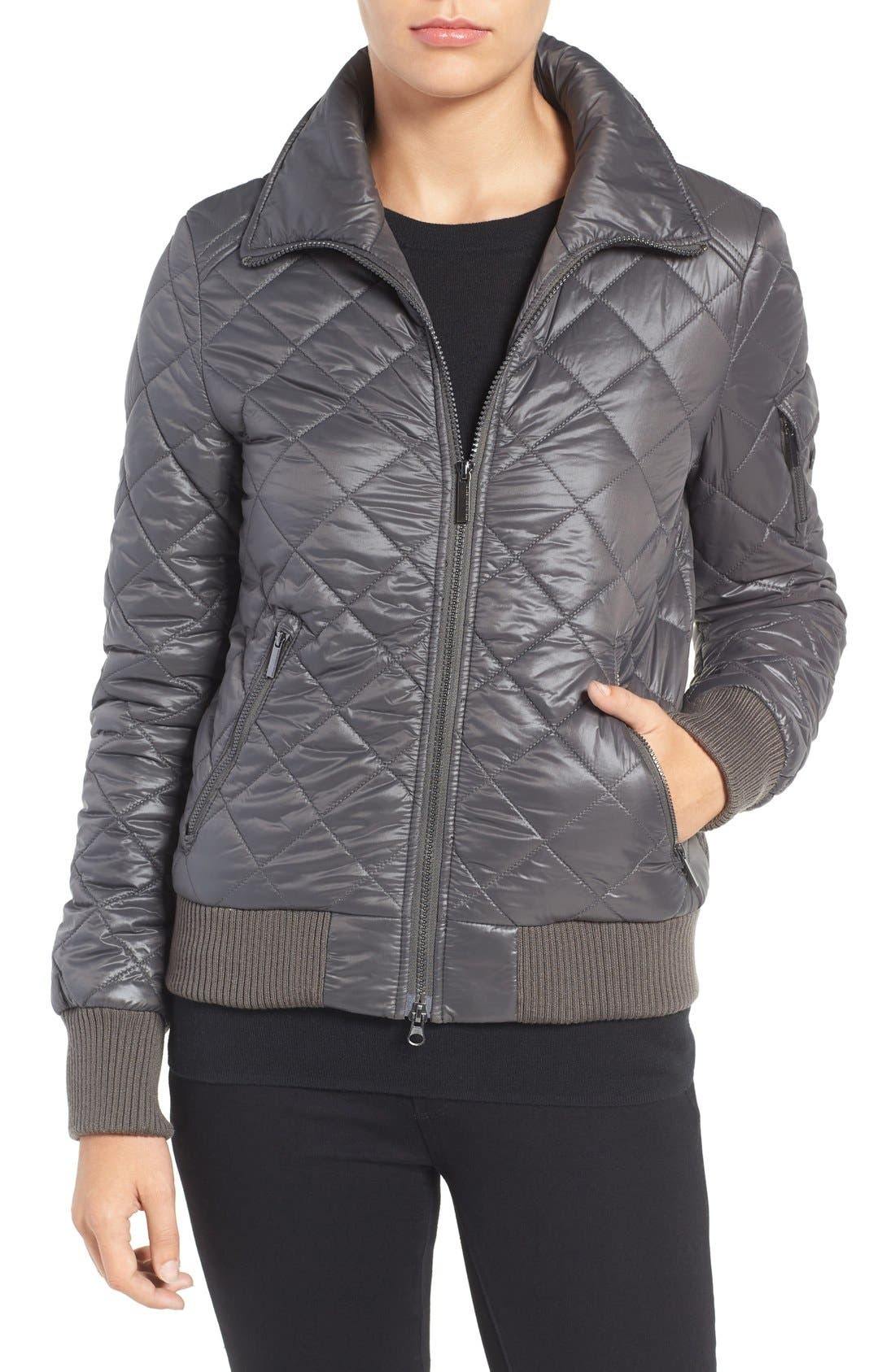 Quilted Bomber Jacket,                             Main thumbnail 3, color,